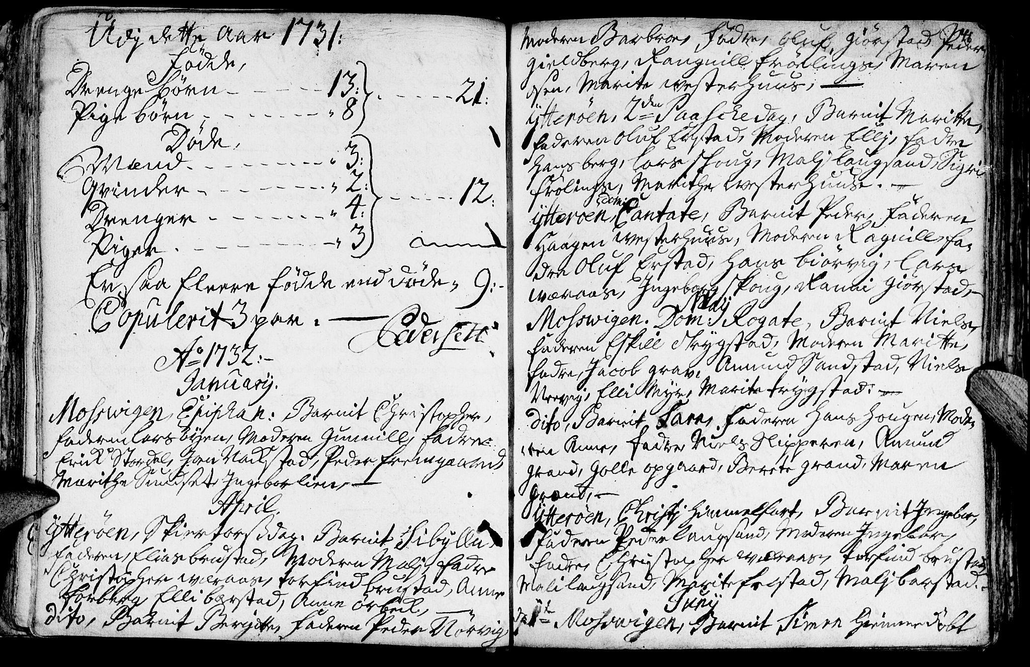 SAT, Ministerialprotokoller, klokkerbøker og fødselsregistre - Nord-Trøndelag, 722/L0215: Ministerialbok nr. 722A02, 1718-1755, s. 41