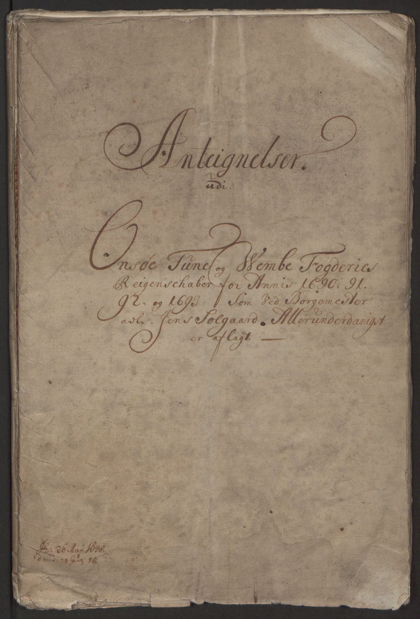 RA, Rentekammeret inntil 1814, Reviderte regnskaper, Fogderegnskap, R03/L0120: Fogderegnskap Onsøy, Tune, Veme og Åbygge fogderi, 1692-1693, s. 429