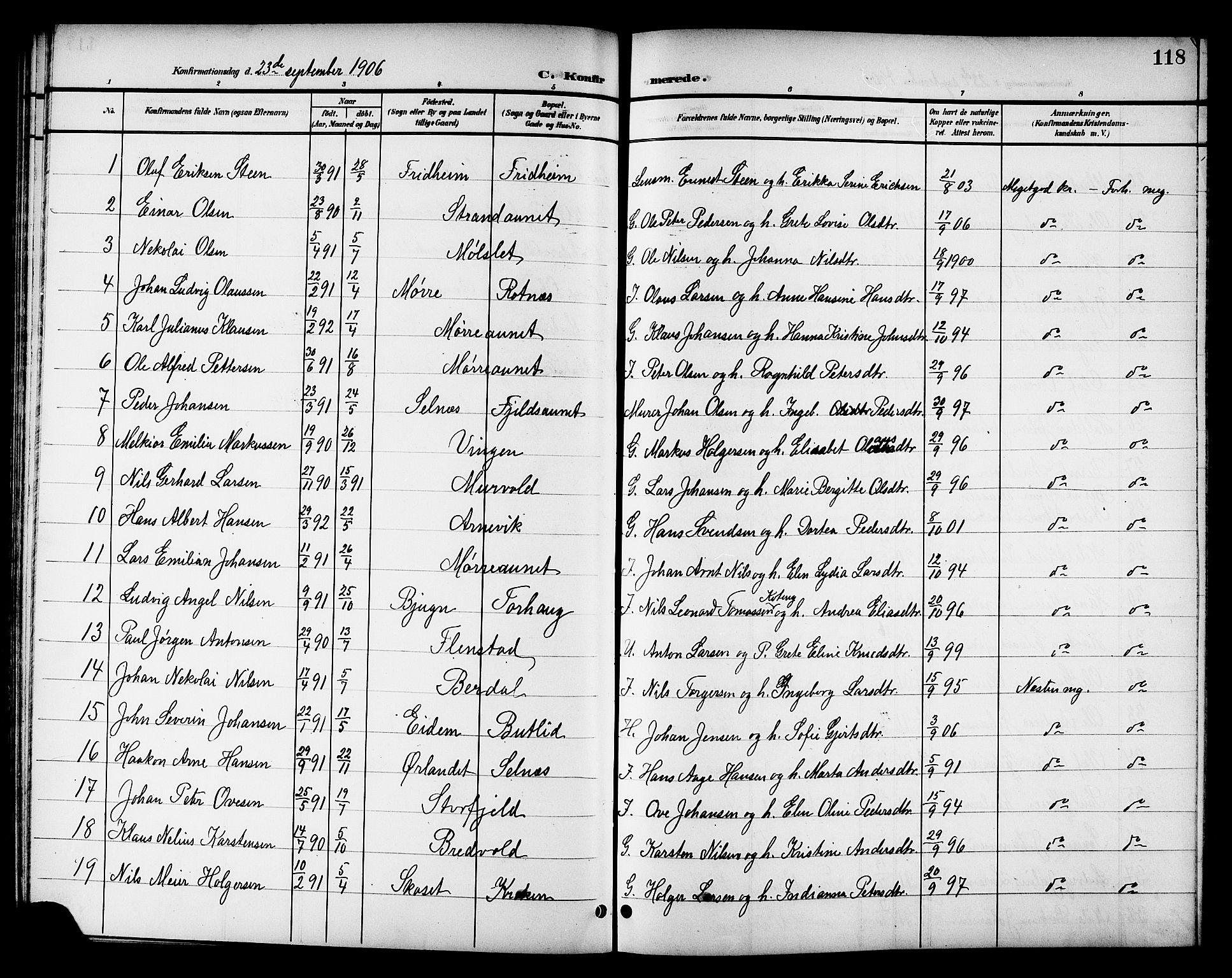 SAT, Ministerialprotokoller, klokkerbøker og fødselsregistre - Sør-Trøndelag, 655/L0688: Klokkerbok nr. 655C04, 1899-1922, s. 118