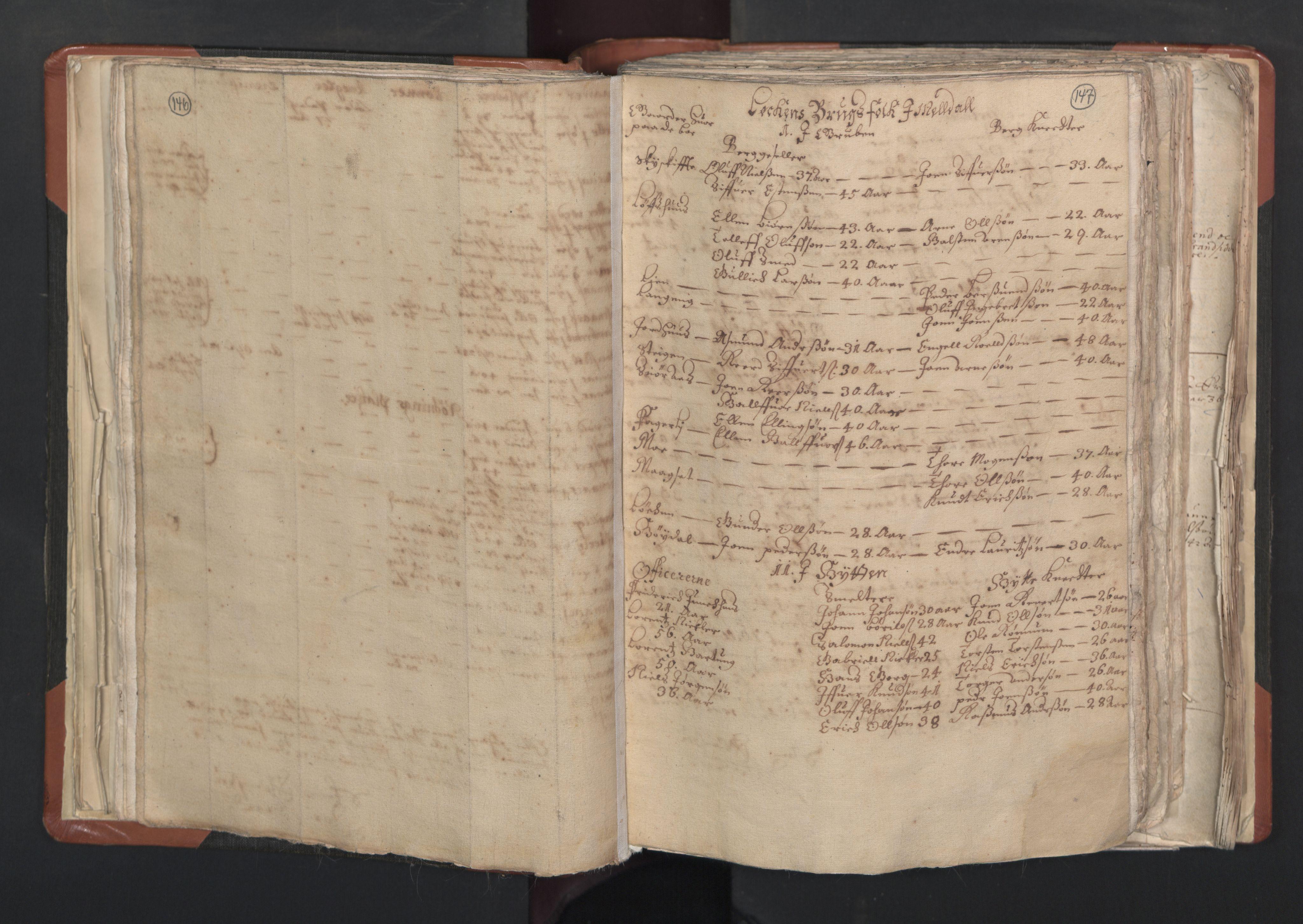 RA, Sogneprestenes manntall 1664-1666, nr. 31: Dalane prosti, 1664-1666, s. 146-147