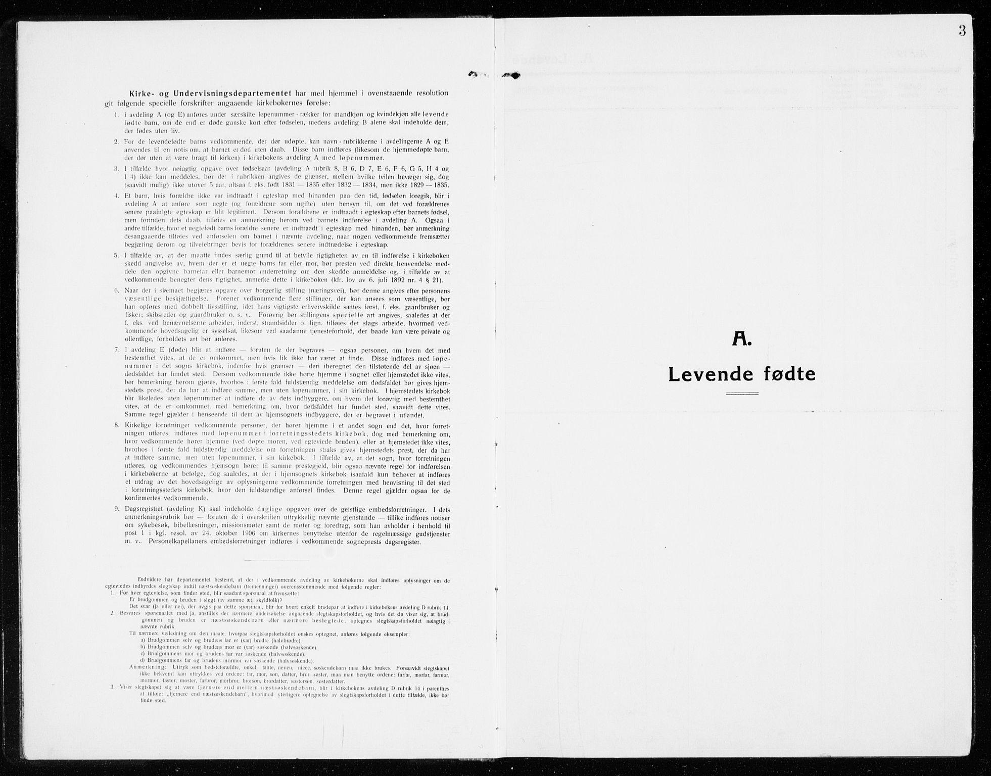 SAKO, Gol kirkebøker, G/Ga/L0004: Klokkerbok nr. I 4, 1915-1943, s. 3