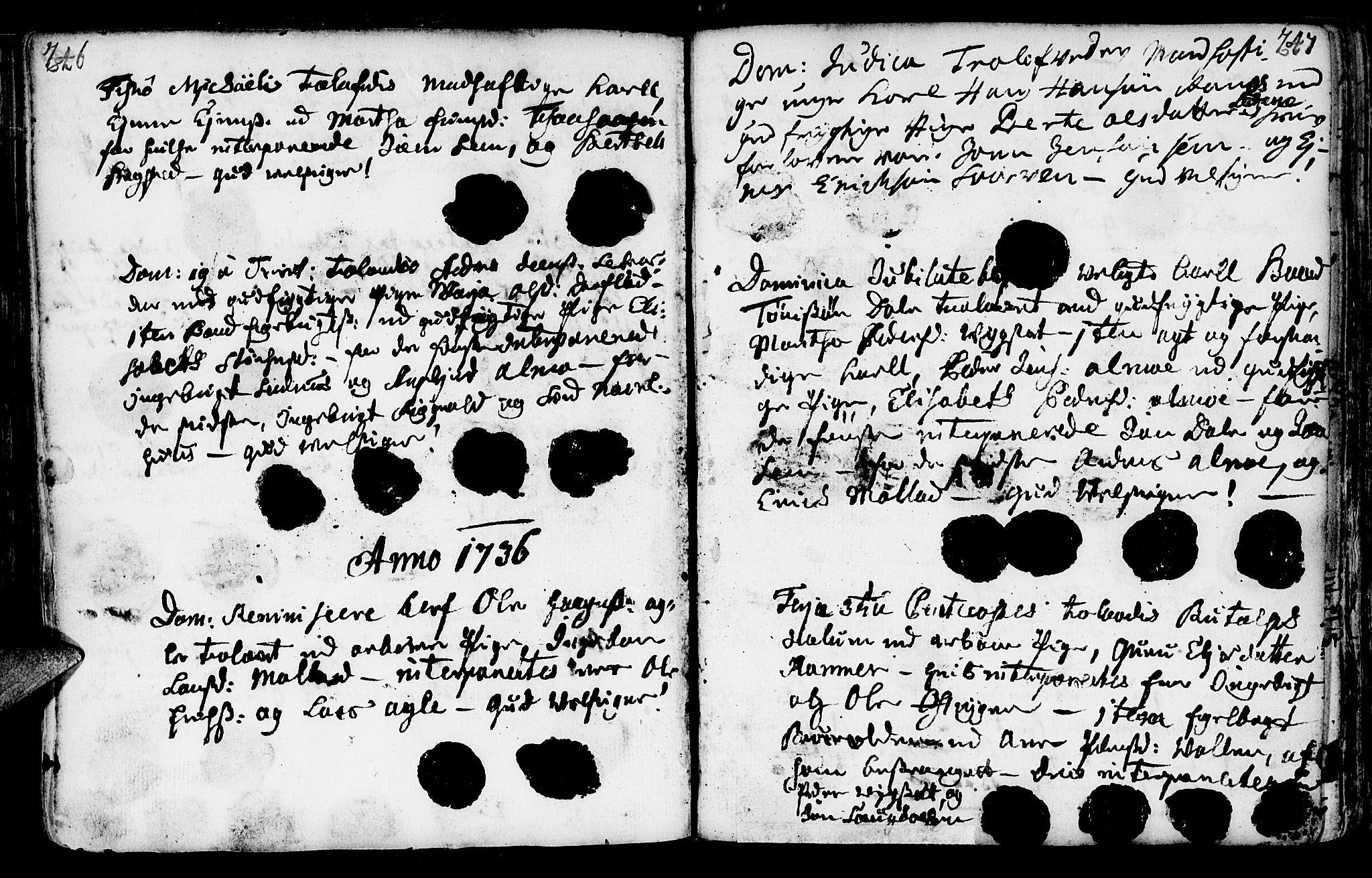 SAT, Ministerialprotokoller, klokkerbøker og fødselsregistre - Nord-Trøndelag, 749/L0467: Ministerialbok nr. 749A01, 1733-1787, s. 246-247