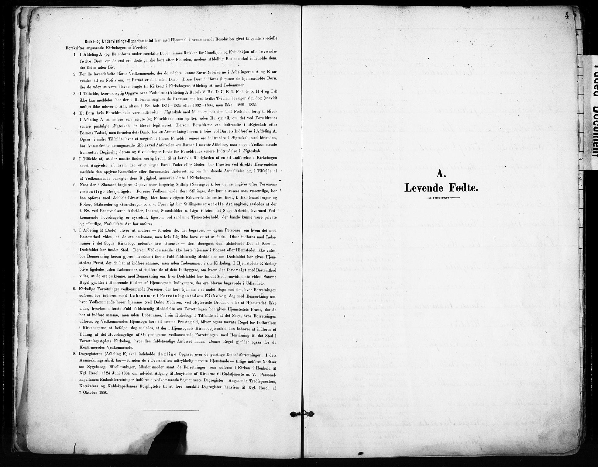 SAB, Domkirken Sokneprestembete, H/Haa/L0024: Ministerialbok nr. B 7, 1888-1903, s. 4