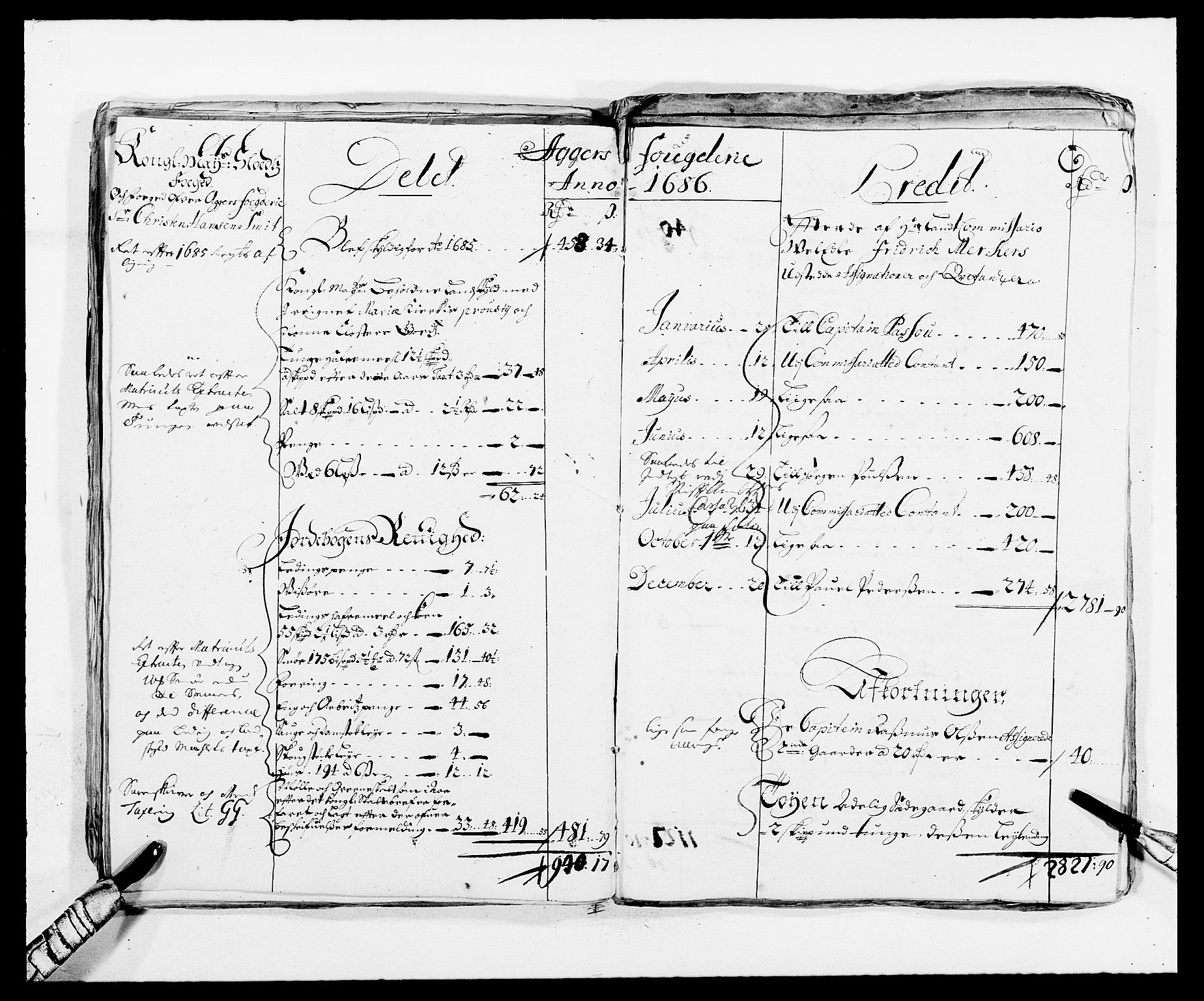 RA, Rentekammeret inntil 1814, Reviderte regnskaper, Fogderegnskap, R08/L0420: Fogderegnskap Aker, 1682-1691, s. 54