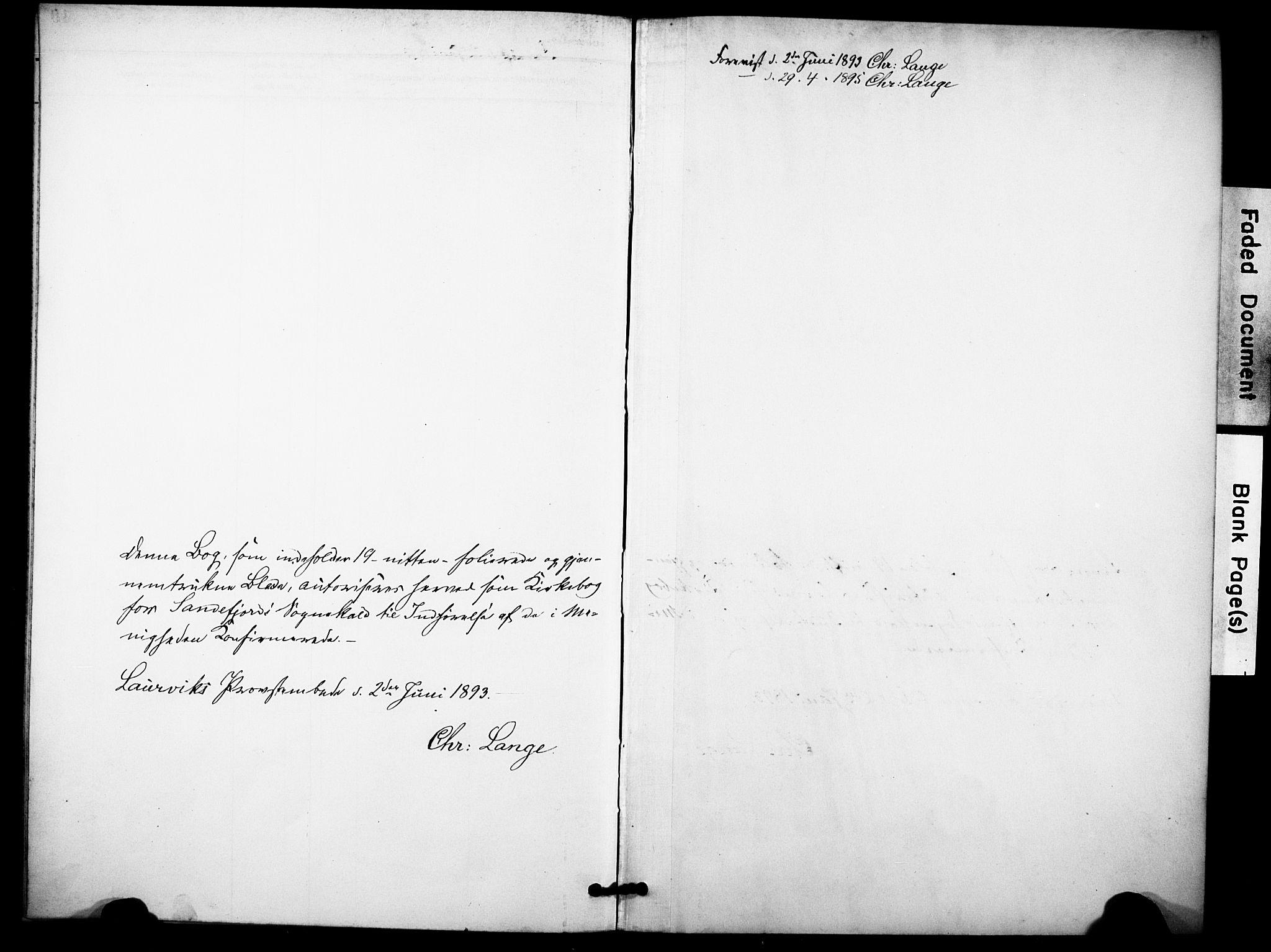 SAKO, Sandefjord kirkebøker, F/Fa/L0003: Ministerialbok nr. 3, 1892-1894