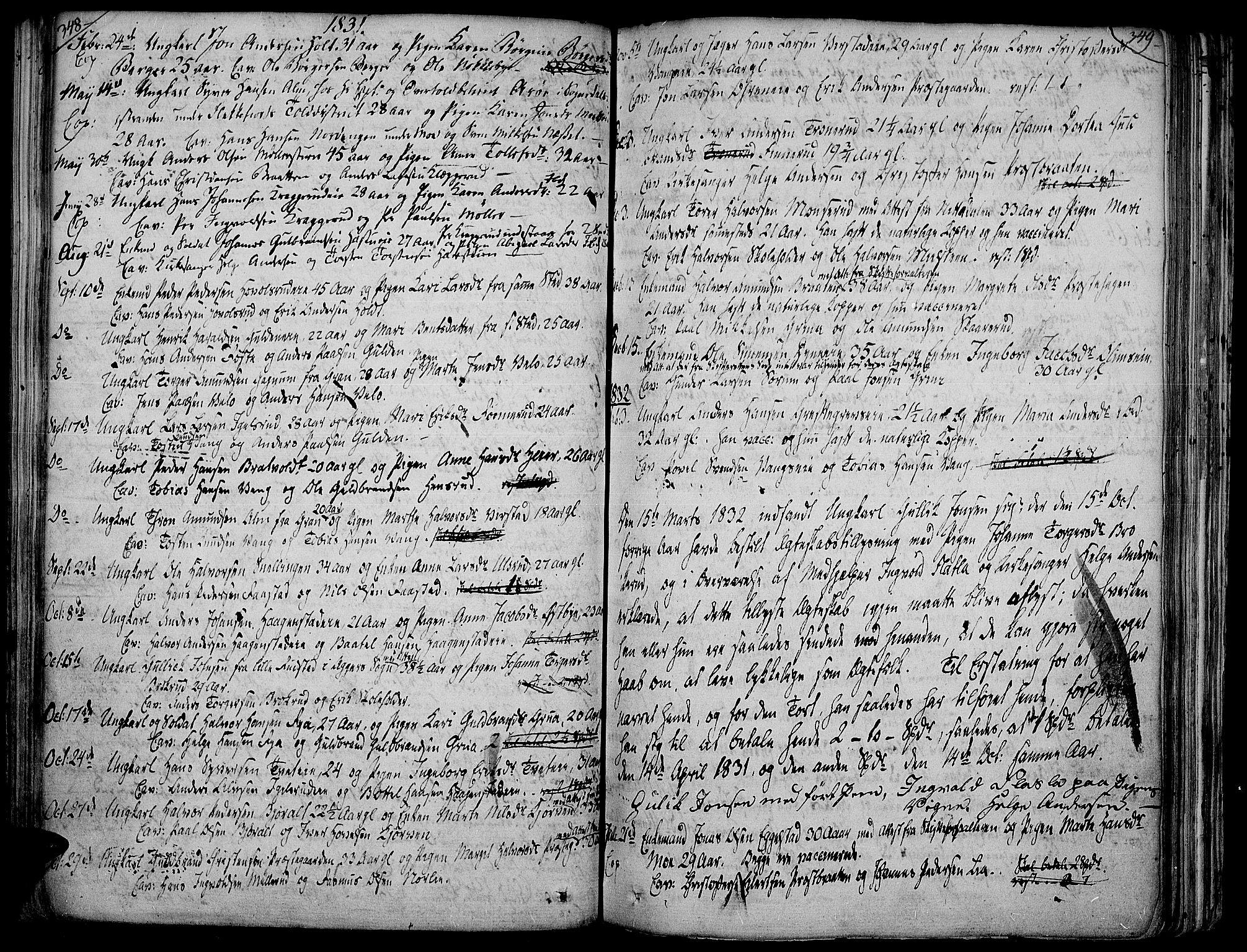 SAH, Jevnaker prestekontor, Ministerialbok nr. 4, 1800-1861, s. 348-349