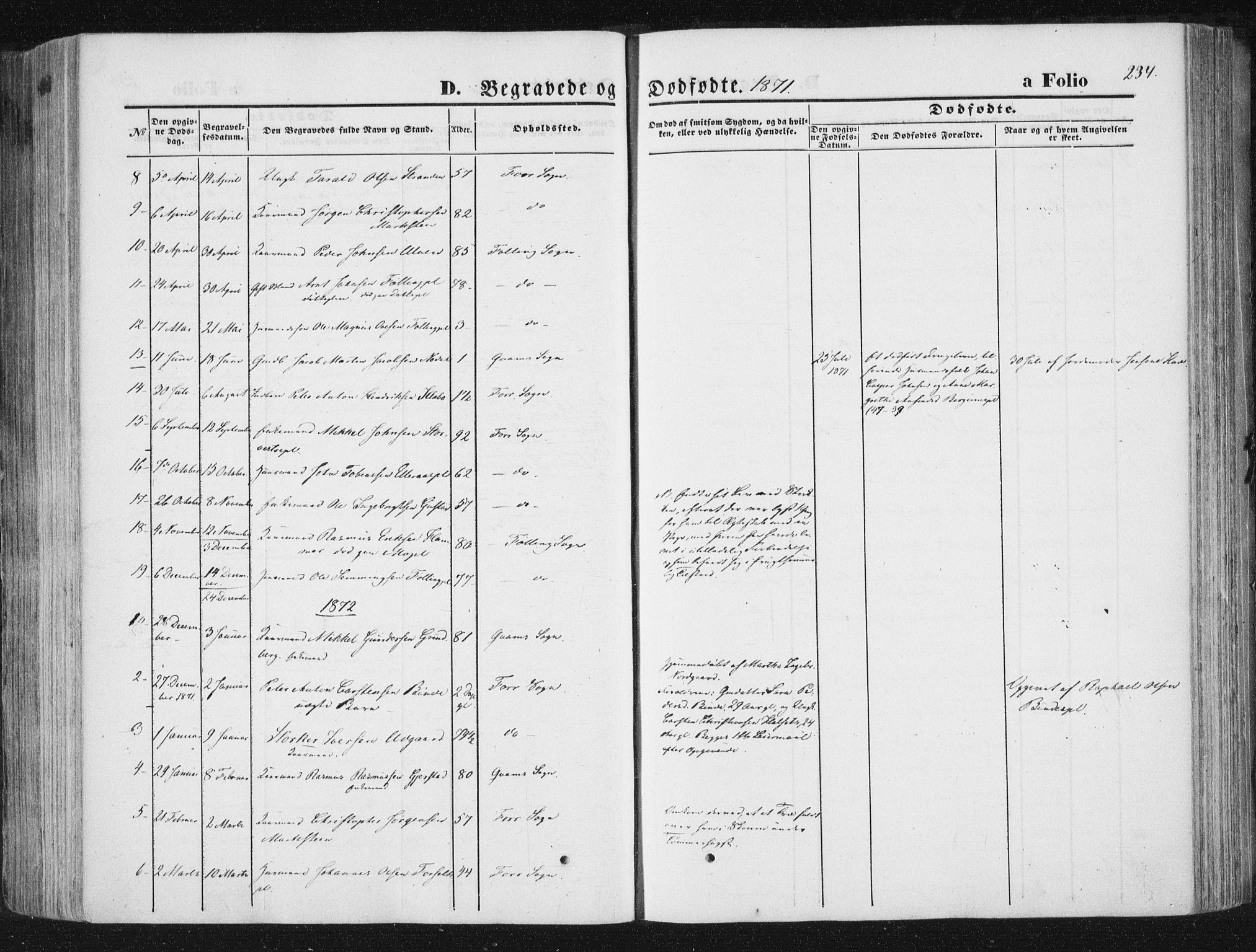 SAT, Ministerialprotokoller, klokkerbøker og fødselsregistre - Nord-Trøndelag, 746/L0447: Ministerialbok nr. 746A06, 1860-1877, s. 234