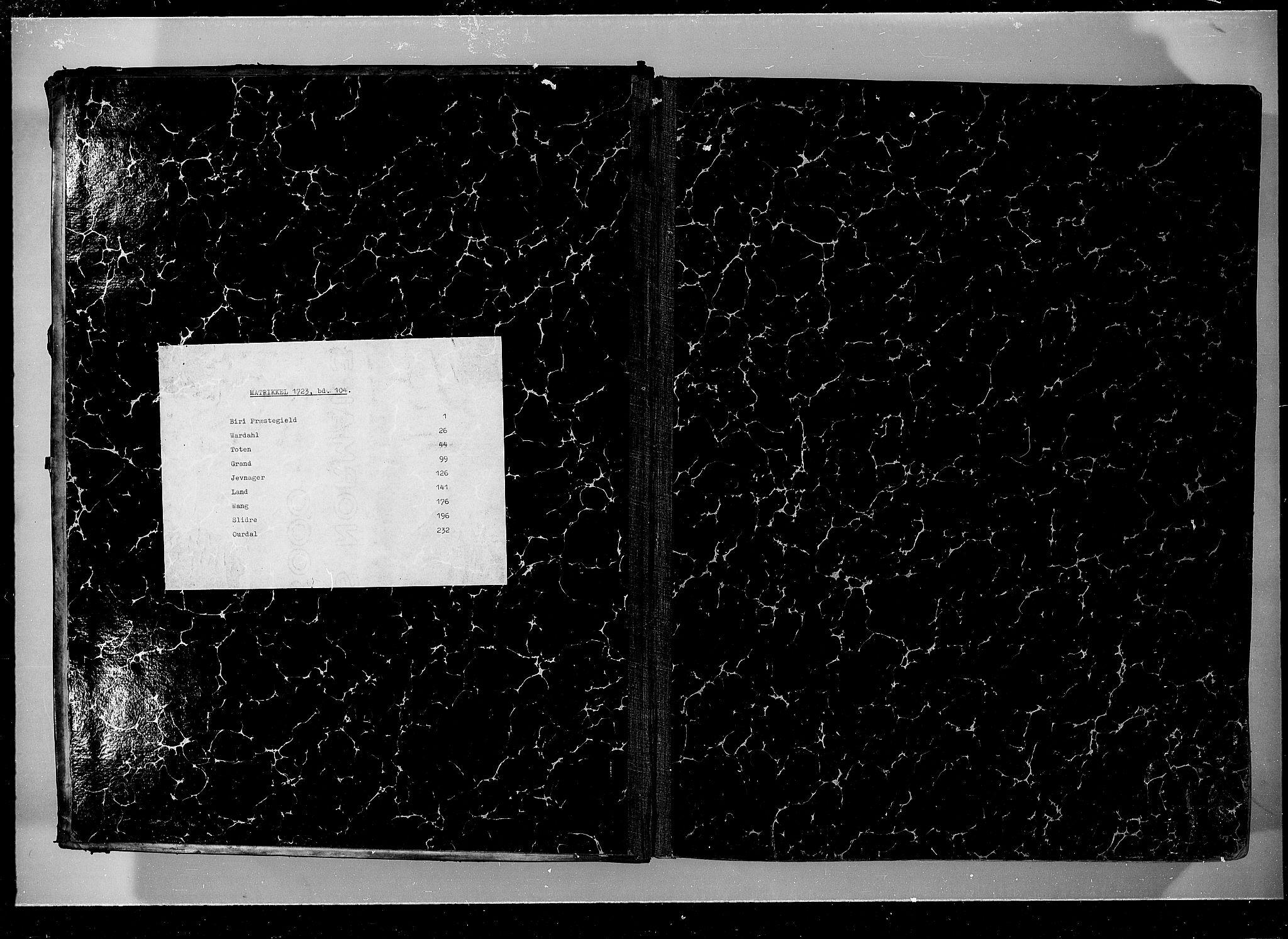 RA, Rentekammeret inntil 1814, Realistisk ordnet avdeling, N/Nb/Nbf/L0104: Hadeland, Toten og Valdres eksaminasjonsprotokoll, 1723, s. upaginert