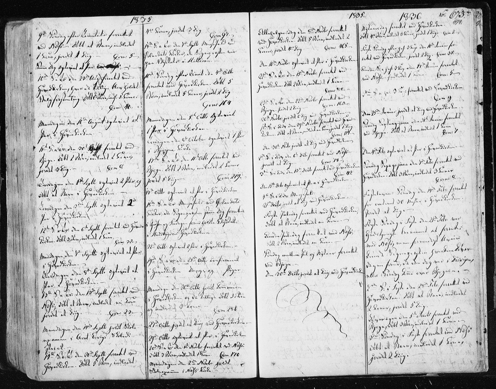 SAT, Ministerialprotokoller, klokkerbøker og fødselsregistre - Sør-Trøndelag, 659/L0735: Ministerialbok nr. 659A05, 1826-1841, s. 673