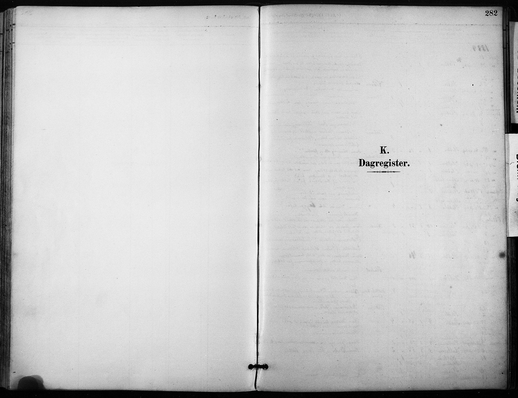 SAT, Ministerialprotokoller, klokkerbøker og fødselsregistre - Sør-Trøndelag, 640/L0579: Ministerialbok nr. 640A04, 1889-1902, s. 282