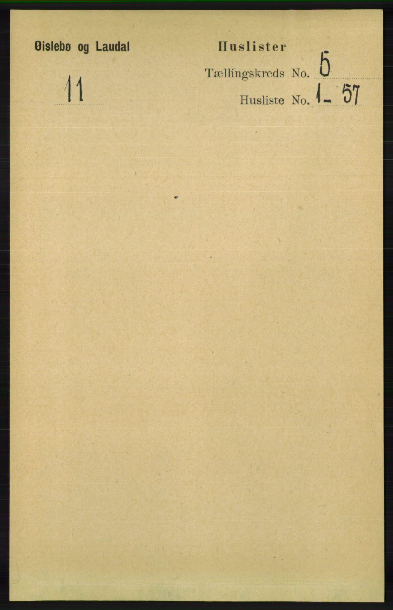 RA, Folketelling 1891 for 1021 Øyslebø og Laudal herred, 1891, s. 1275