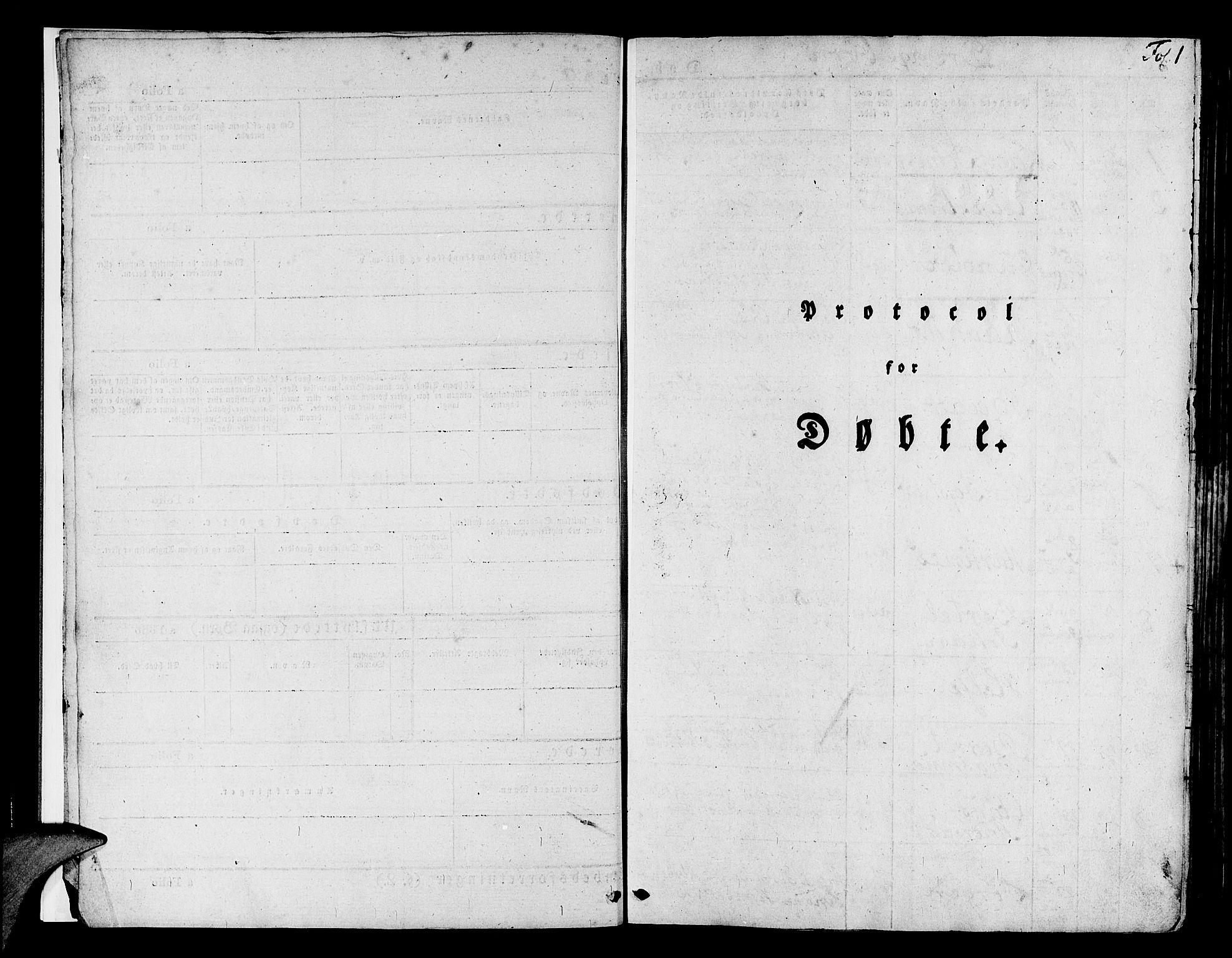 SAB, Askøy Sokneprestembete, H: Ministerialbok nr. A 4, 1825-1845, s. 1