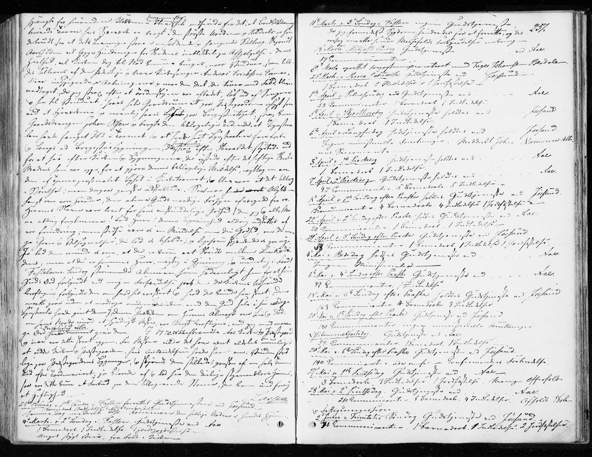 SAT, Ministerialprotokoller, klokkerbøker og fødselsregistre - Sør-Trøndelag, 655/L0677: Ministerialbok nr. 655A06, 1847-1860, s. 257