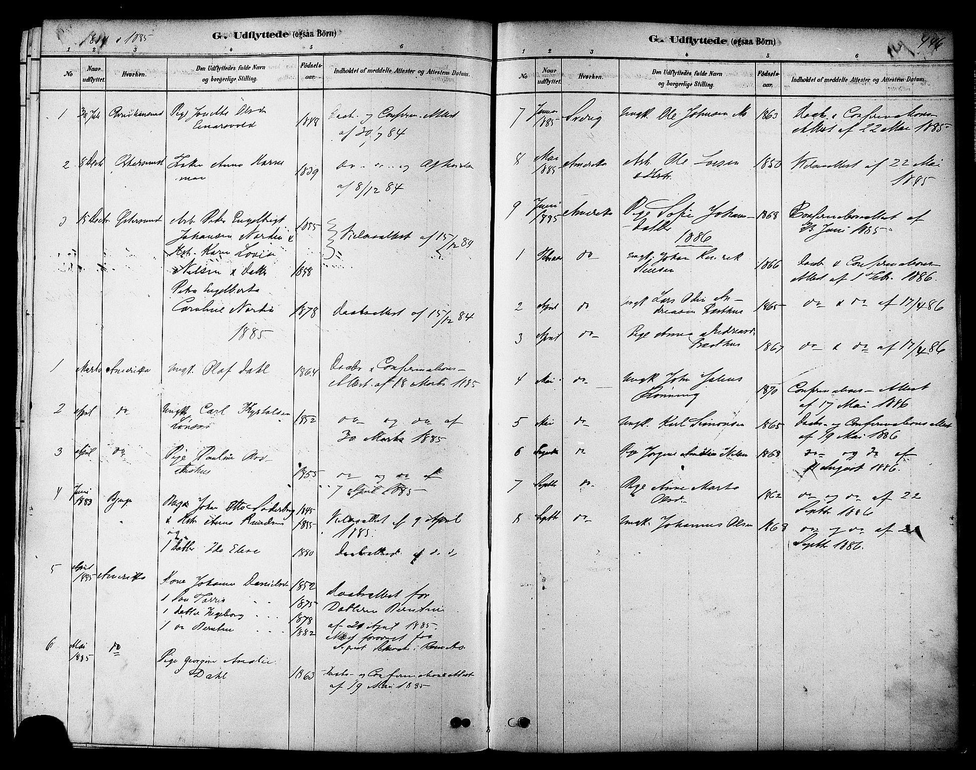 SAT, Ministerialprotokoller, klokkerbøker og fødselsregistre - Sør-Trøndelag, 606/L0294: Ministerialbok nr. 606A09, 1878-1886, s. 446