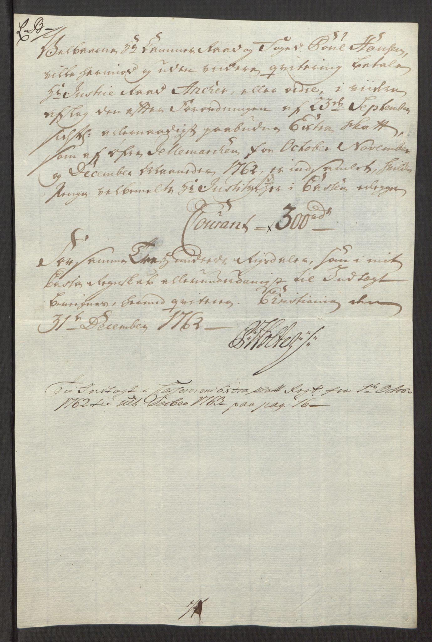 RA, Rentekammeret inntil 1814, Reviderte regnskaper, Fogderegnskap, R38/L2293: Ekstraskatten Øvre Telemark, 1762-1770, s. 22