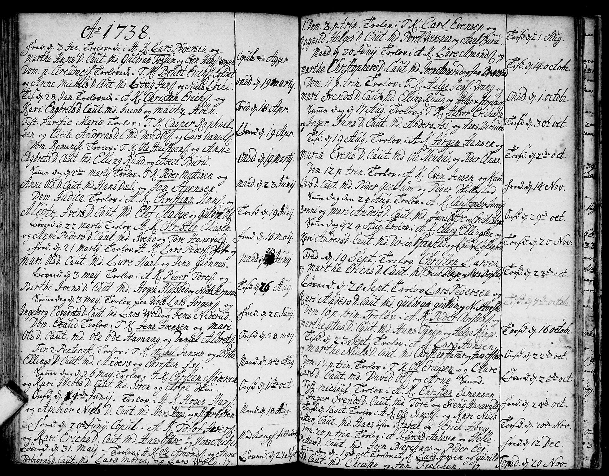 SAO, Asker prestekontor Kirkebøker, F/Fa/L0001: Ministerialbok nr. I 1, 1726-1744, s. 89