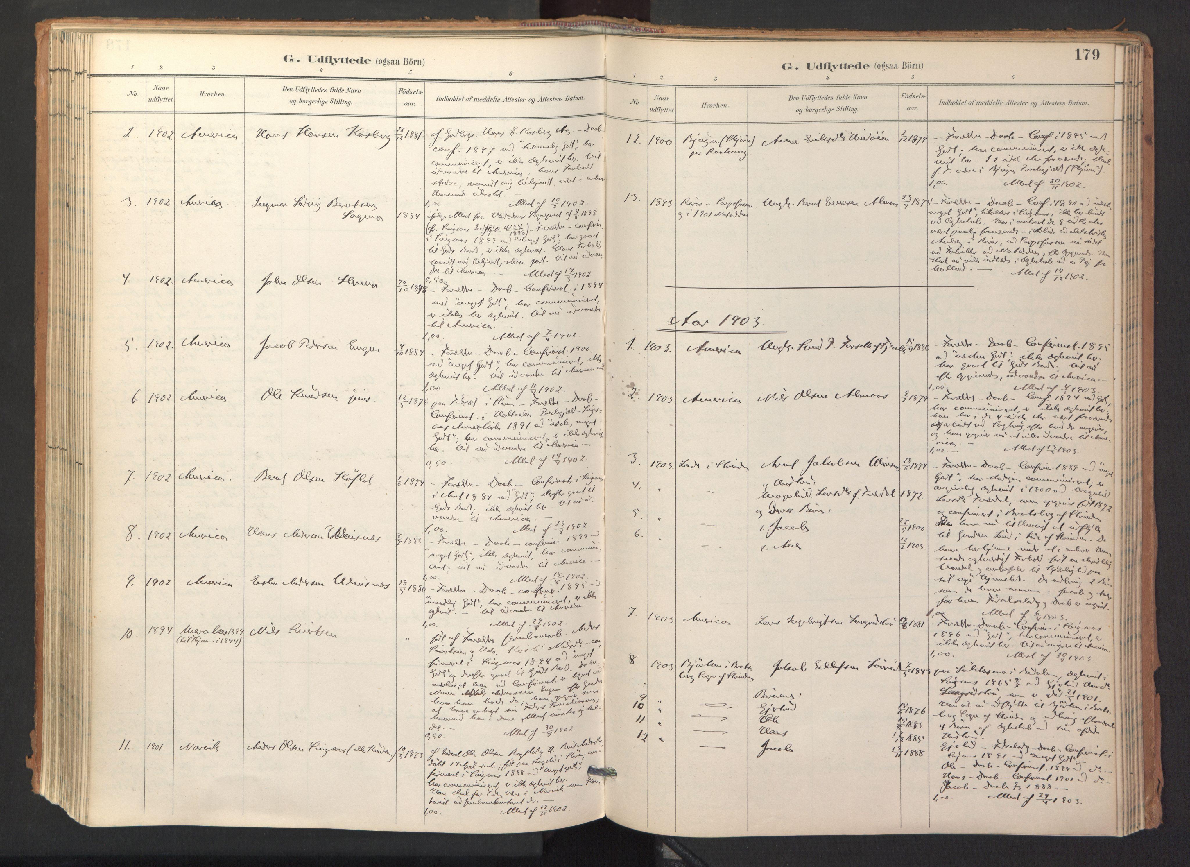 SAT, Ministerialprotokoller, klokkerbøker og fødselsregistre - Sør-Trøndelag, 688/L1025: Ministerialbok nr. 688A02, 1891-1909, s. 179