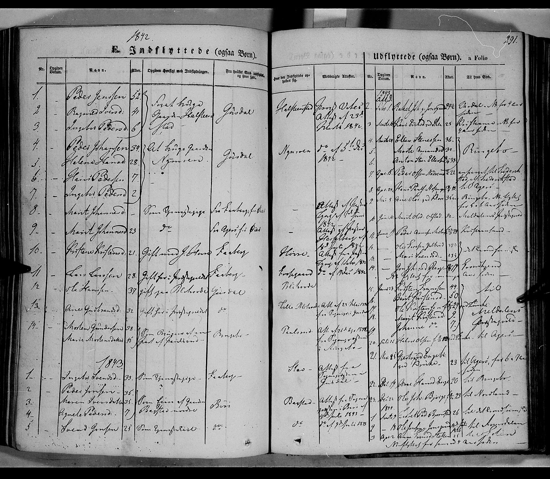 SAH, Øyer prestekontor, Ministerialbok nr. 5, 1842-1857, s. 291