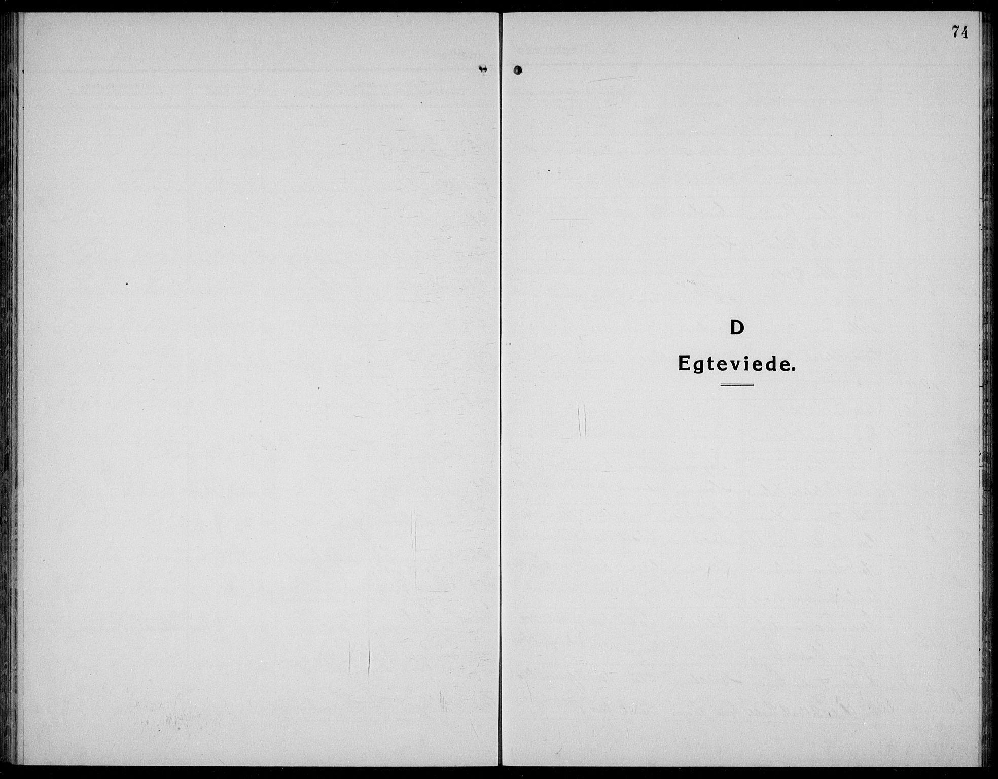 SAKO, Kviteseid kirkebøker, G/Gc/L0002: Klokkerbok nr. III 2, 1917-1937, s. 74