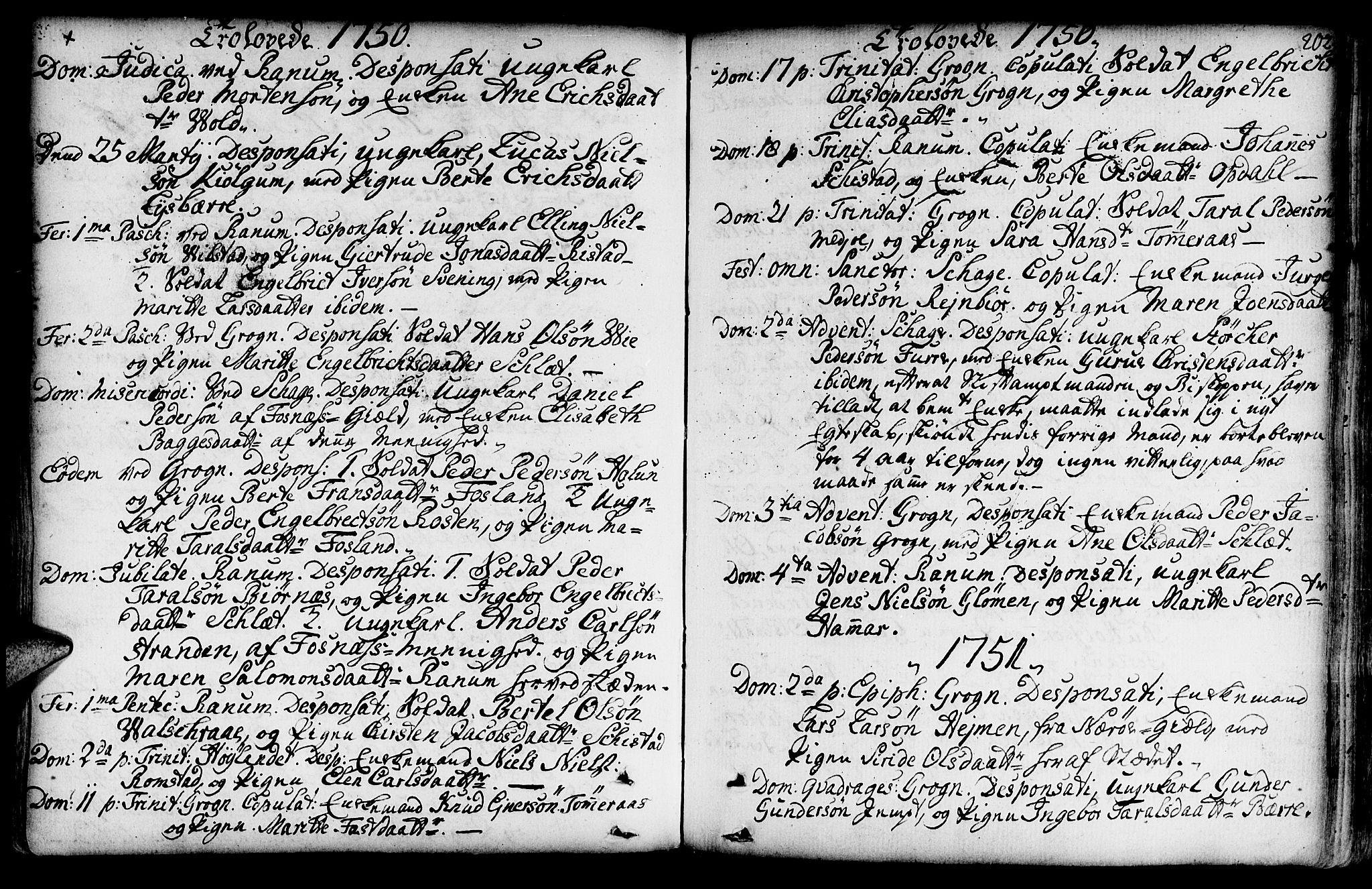 SAT, Ministerialprotokoller, klokkerbøker og fødselsregistre - Nord-Trøndelag, 764/L0542: Ministerialbok nr. 764A02, 1748-1779, s. 202