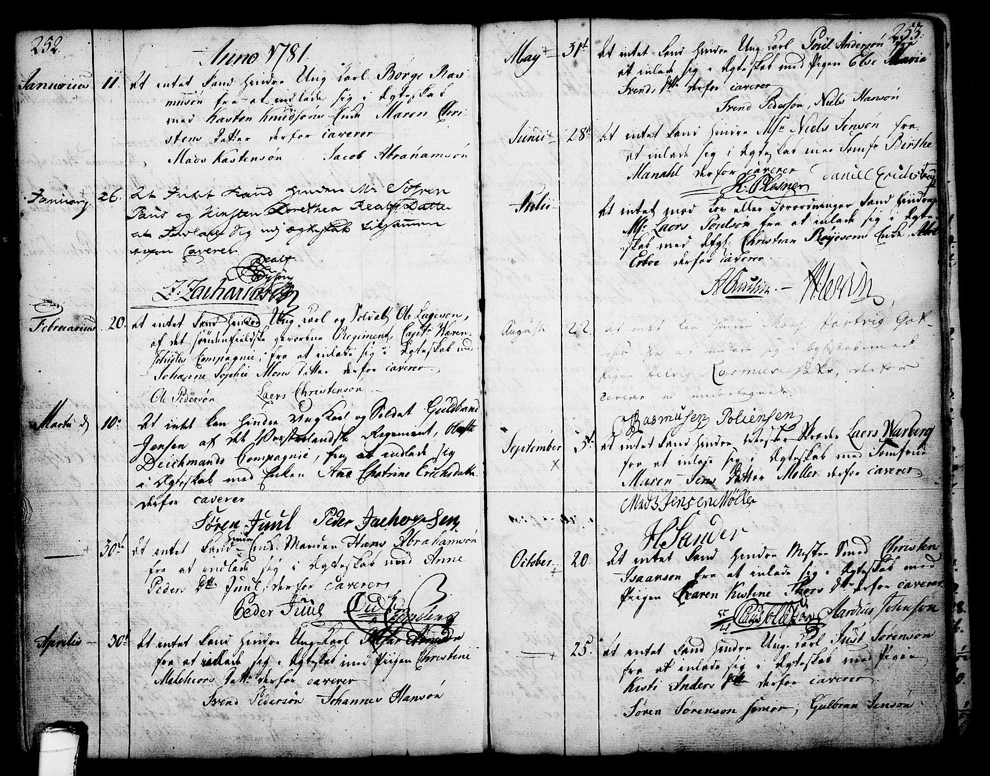 SAKO, Skien kirkebøker, F/Fa/L0003: Ministerialbok nr. 3, 1755-1791, s. 252-253