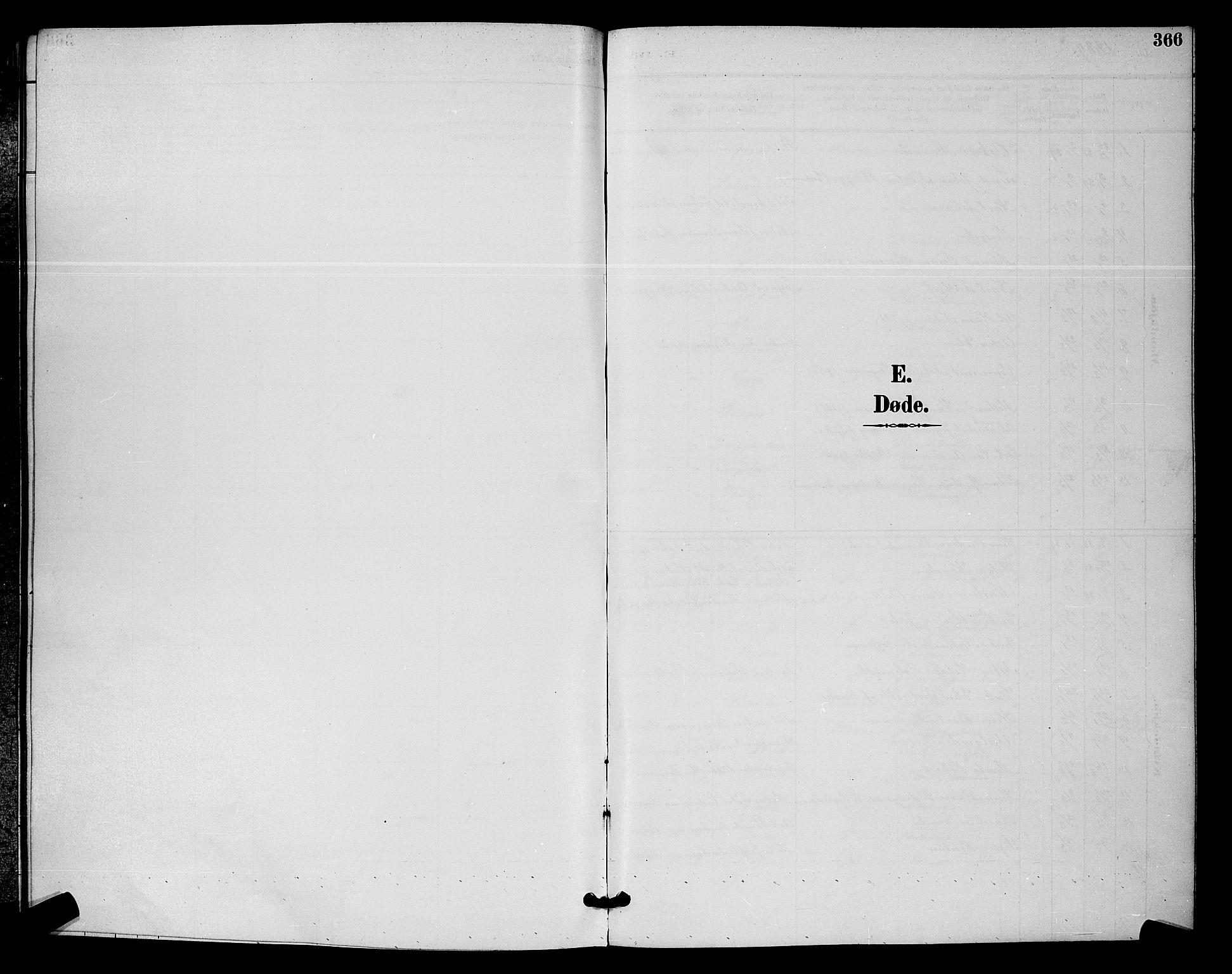 SAO, Moss prestekontor Kirkebøker, G/Ga/L0006: Klokkerbok nr. I 6, 1889-1900, s. 366