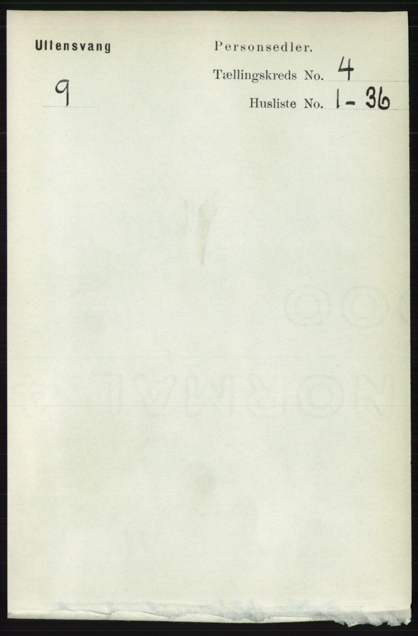 RA, Folketelling 1891 for 1230 Ullensvang herred, 1891, s. 972
