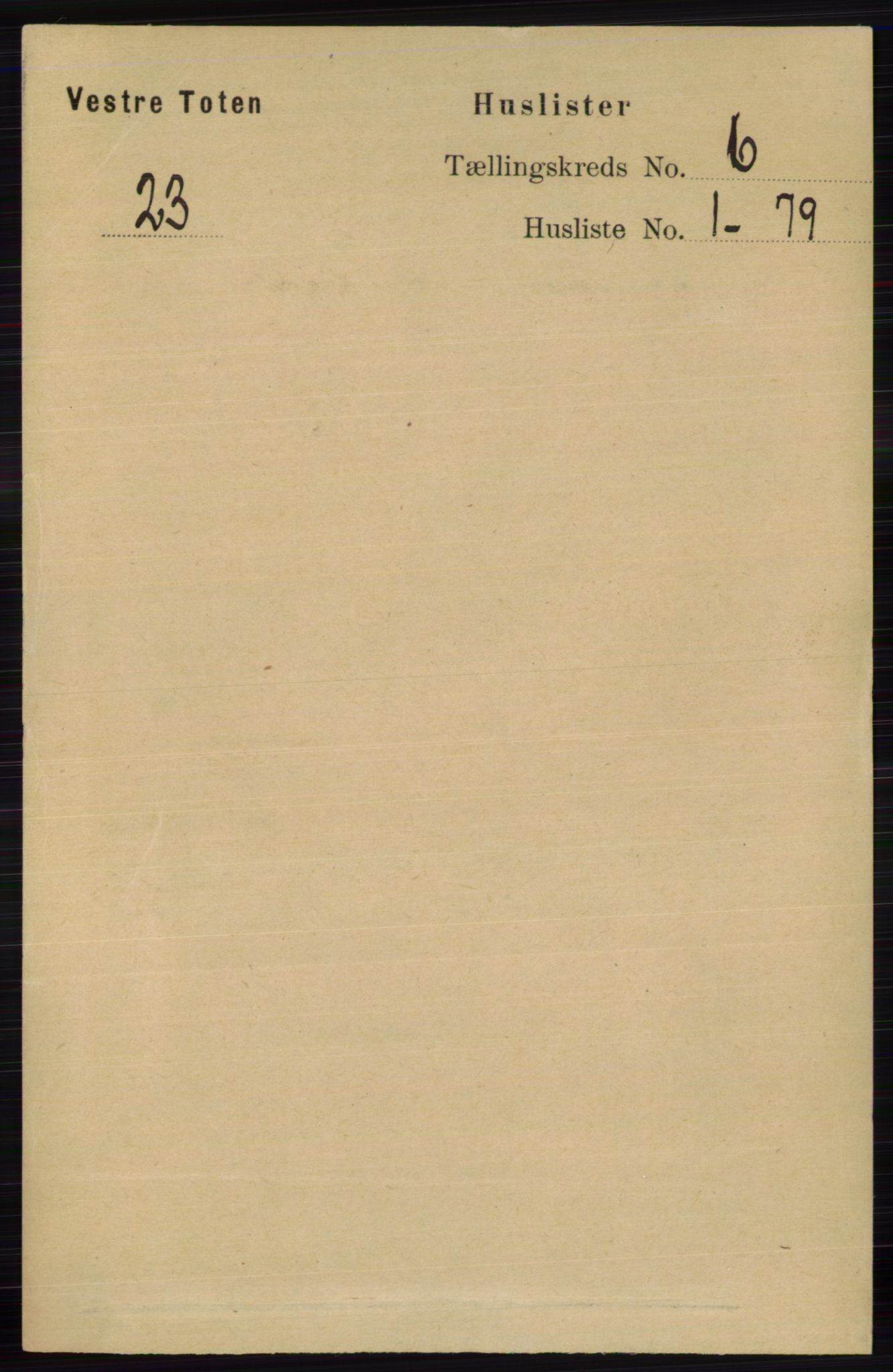 RA, Folketelling 1891 for 0529 Vestre Toten herred, 1891, s. 3733