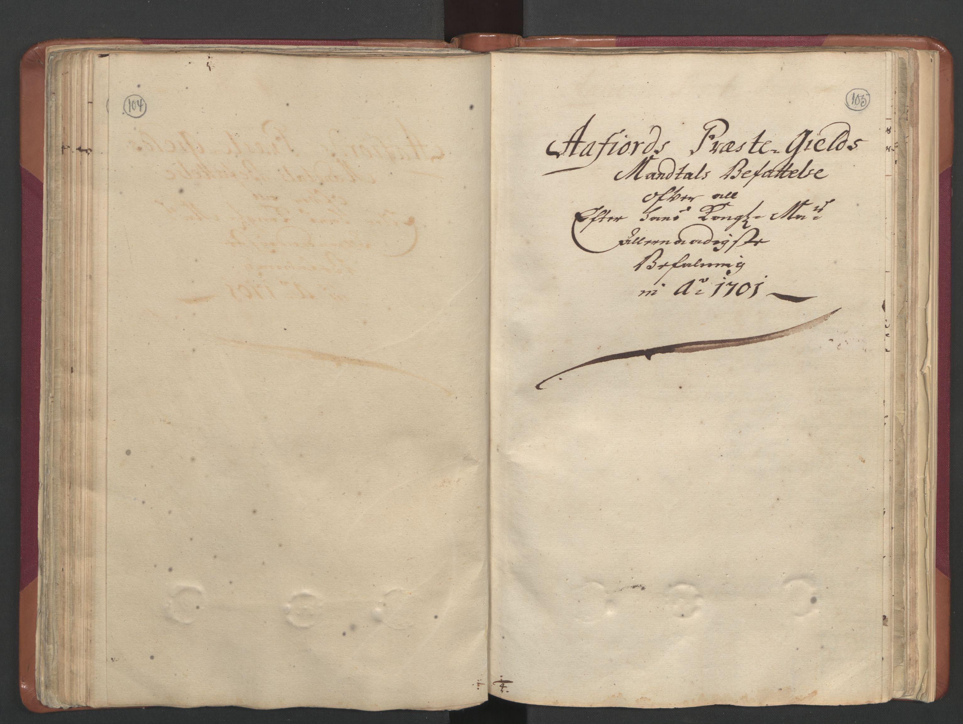 RA, Manntallet 1701, nr. 12: Fosen fogderi, 1701, s. 104-105