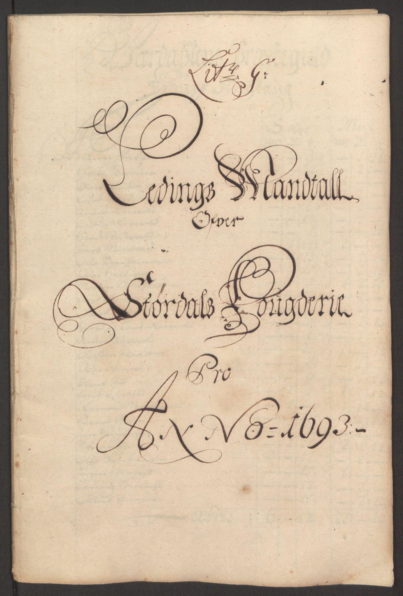 RA, Rentekammeret inntil 1814, Reviderte regnskaper, Fogderegnskap, R62/L4186: Fogderegnskap Stjørdal og Verdal, 1693-1694, s. 89