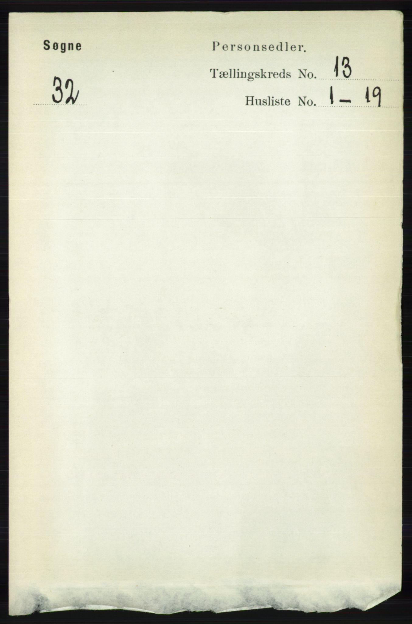 RA, Folketelling 1891 for 1018 Søgne herred, 1891, s. 3211