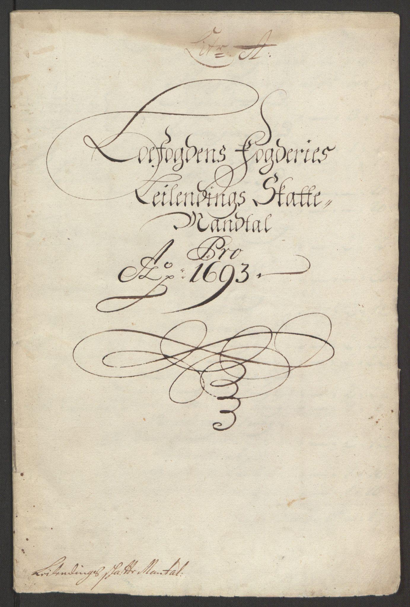 RA, Rentekammeret inntil 1814, Reviderte regnskaper, Fogderegnskap, R67/L4675: Fogderegnskap Vesterålen, Andenes og Lofoten, 1691-1693, s. 229