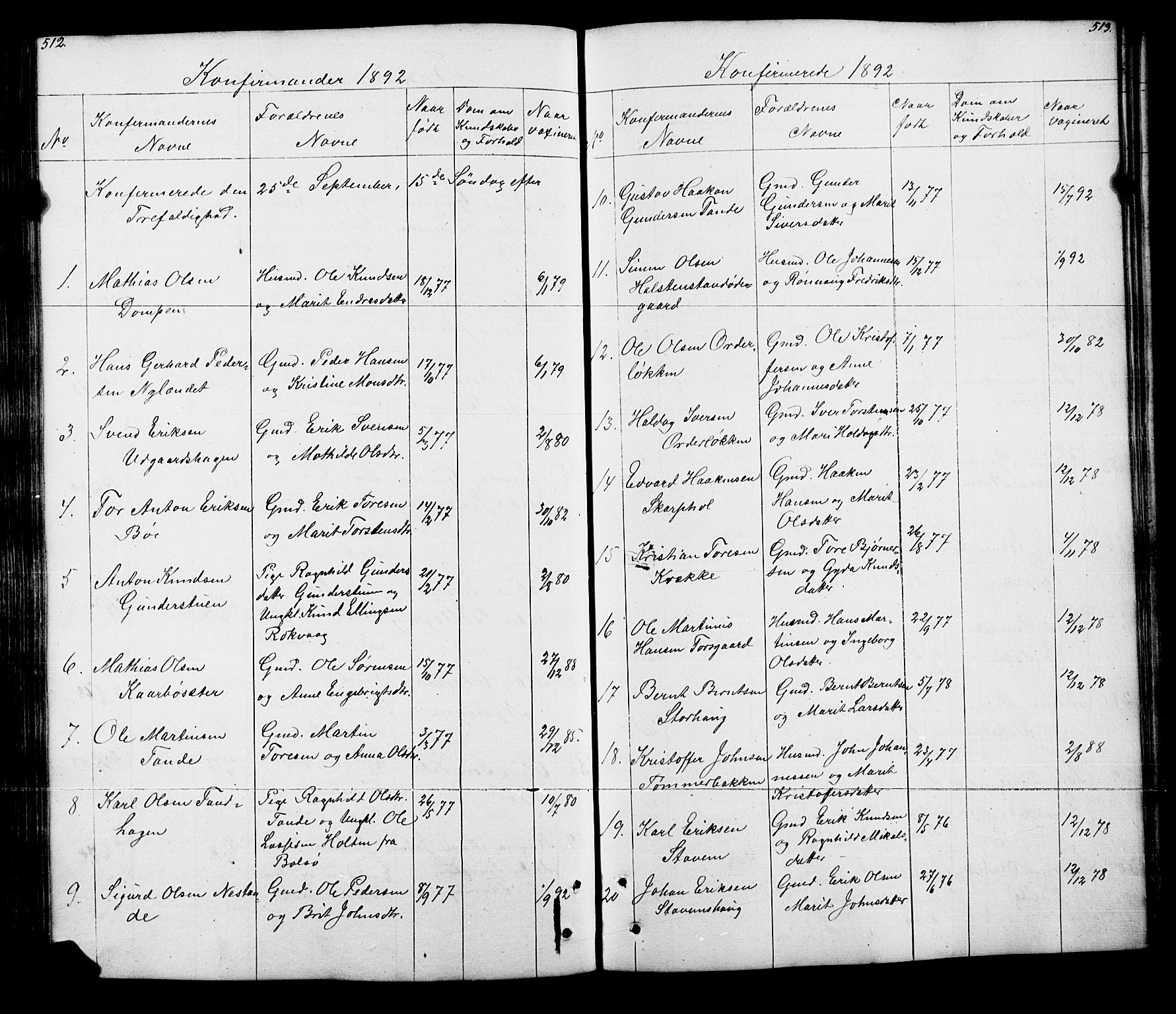 SAH, Lesja prestekontor, Klokkerbok nr. 5, 1850-1894, s. 512-513