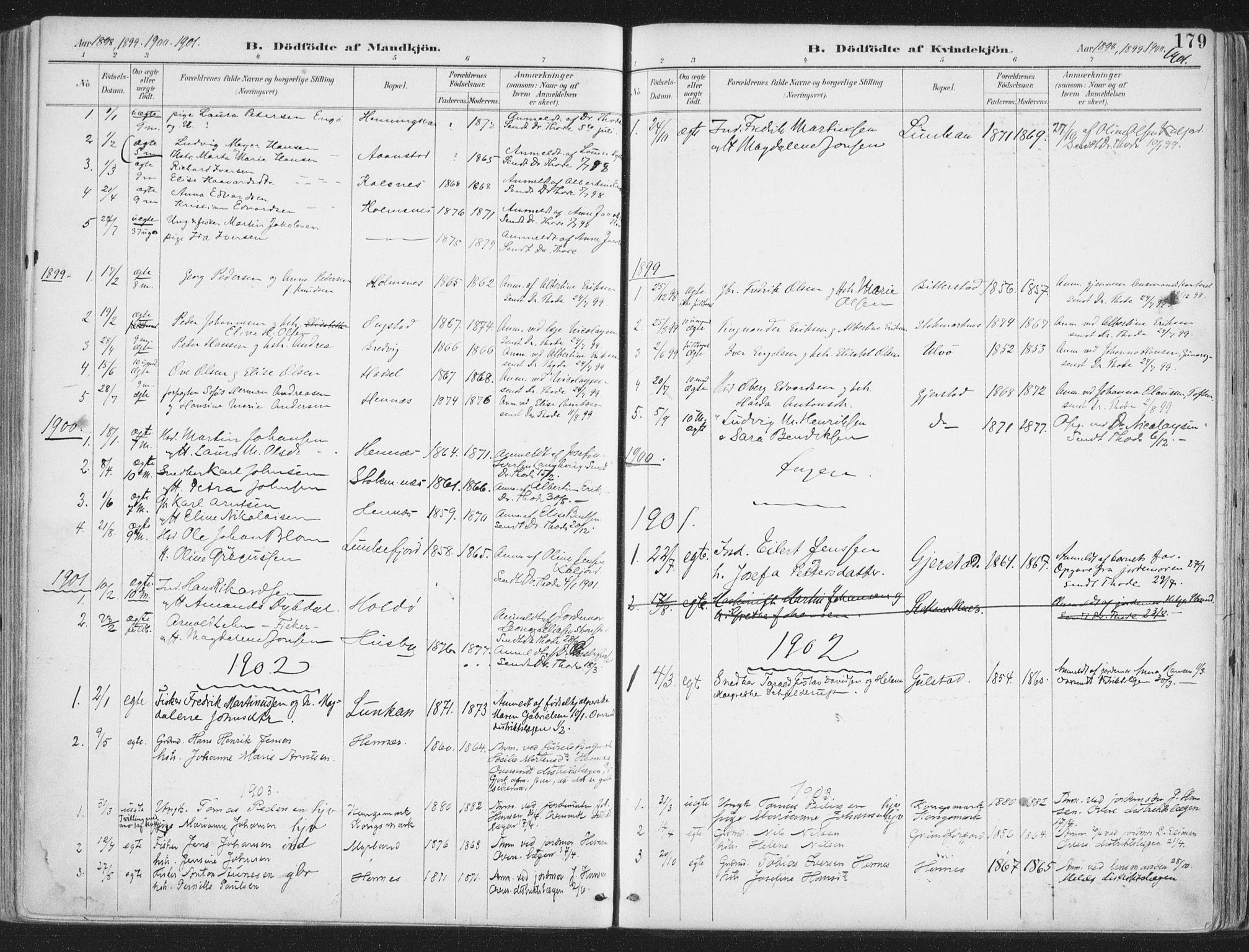 SAT, Ministerialprotokoller, klokkerbøker og fødselsregistre - Nordland, 888/L1246: Ministerialbok nr. 888A12, 1891-1903, s. 179