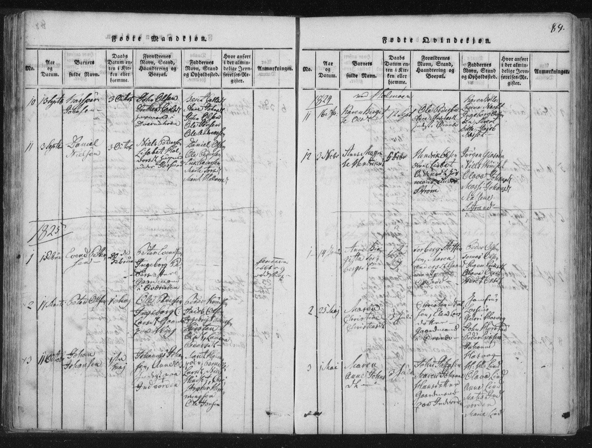 SAT, Ministerialprotokoller, klokkerbøker og fødselsregistre - Nord-Trøndelag, 773/L0609: Ministerialbok nr. 773A03 /3, 1815-1830, s. 89