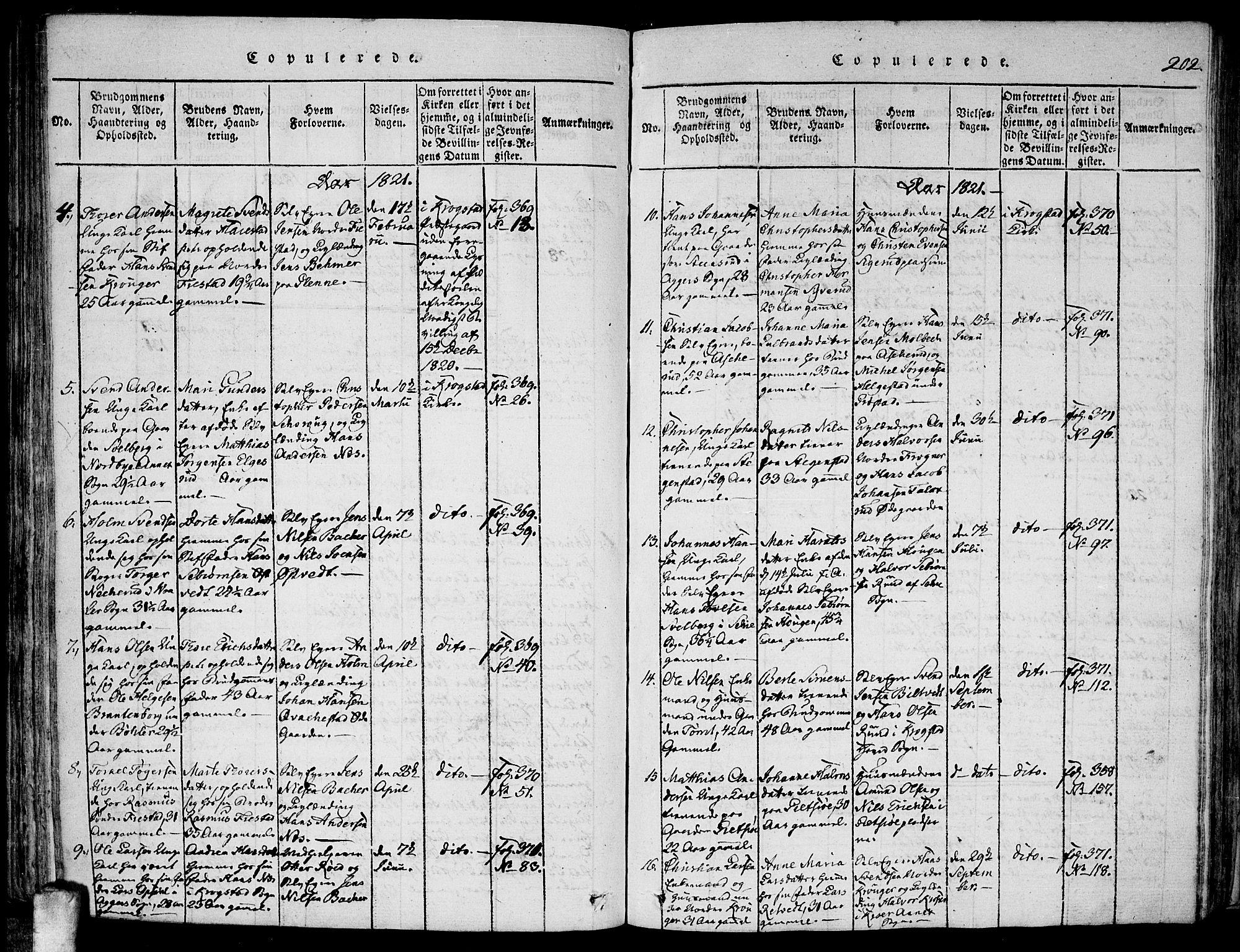 SAO, Kråkstad prestekontor Kirkebøker, F/Fa/L0003: Ministerialbok nr. I 3, 1813-1824, s. 202