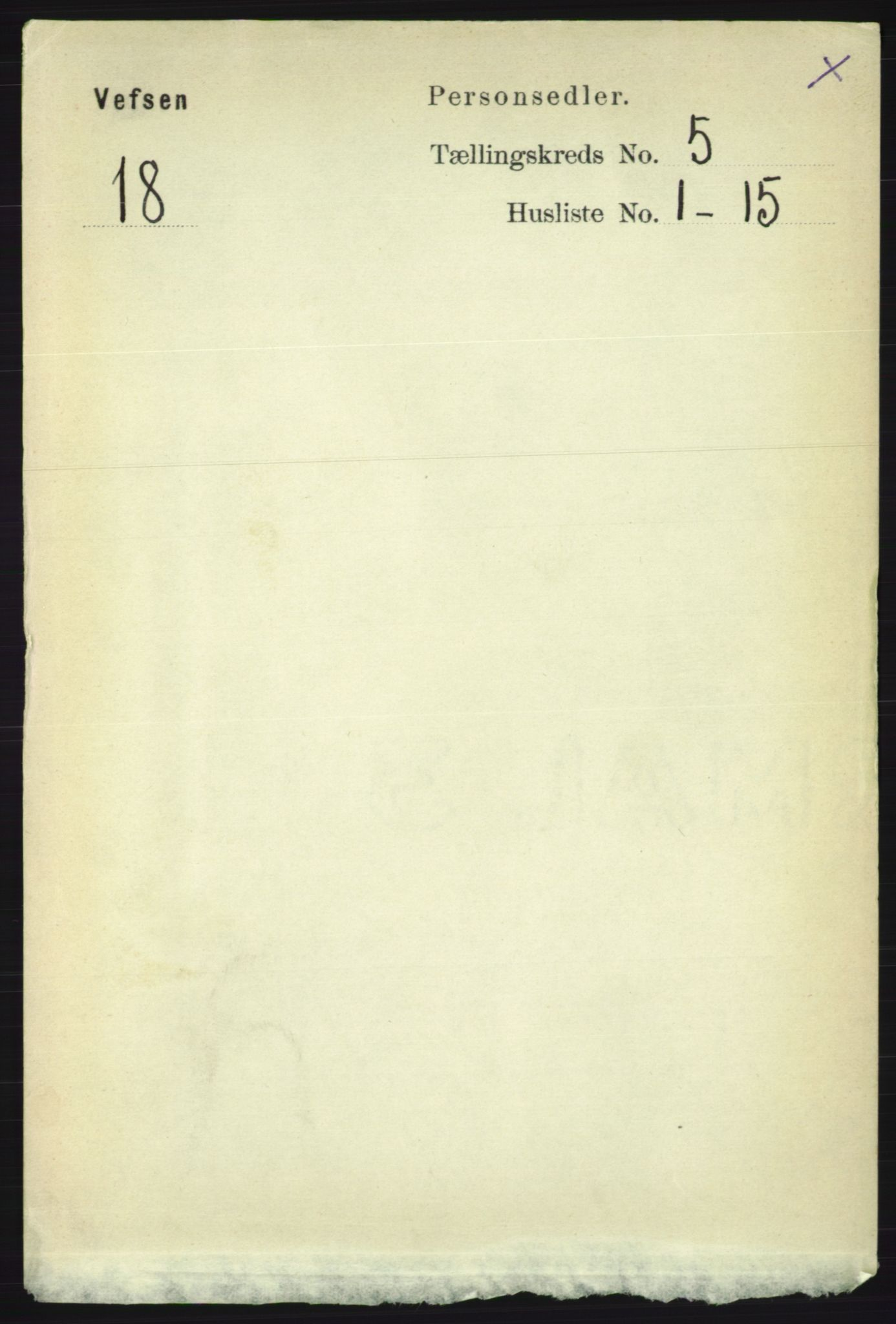 RA, Folketelling 1891 for 1824 Vefsn herred, 1891, s. 2084