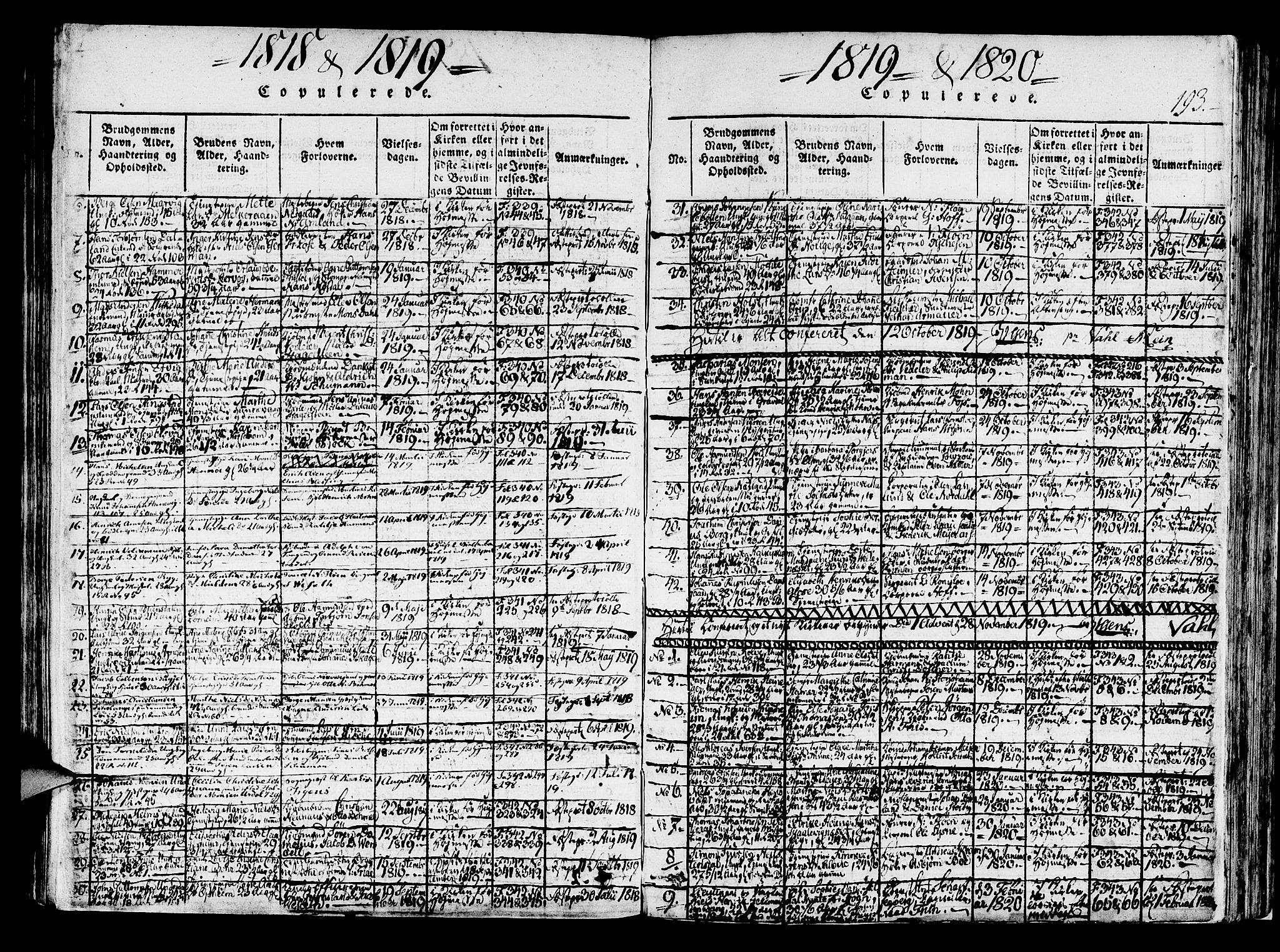 SAB, Korskirken Sokneprestembete, H/Haa/L0013: Ministerialbok nr. A 13, 1815-1822, s. 193