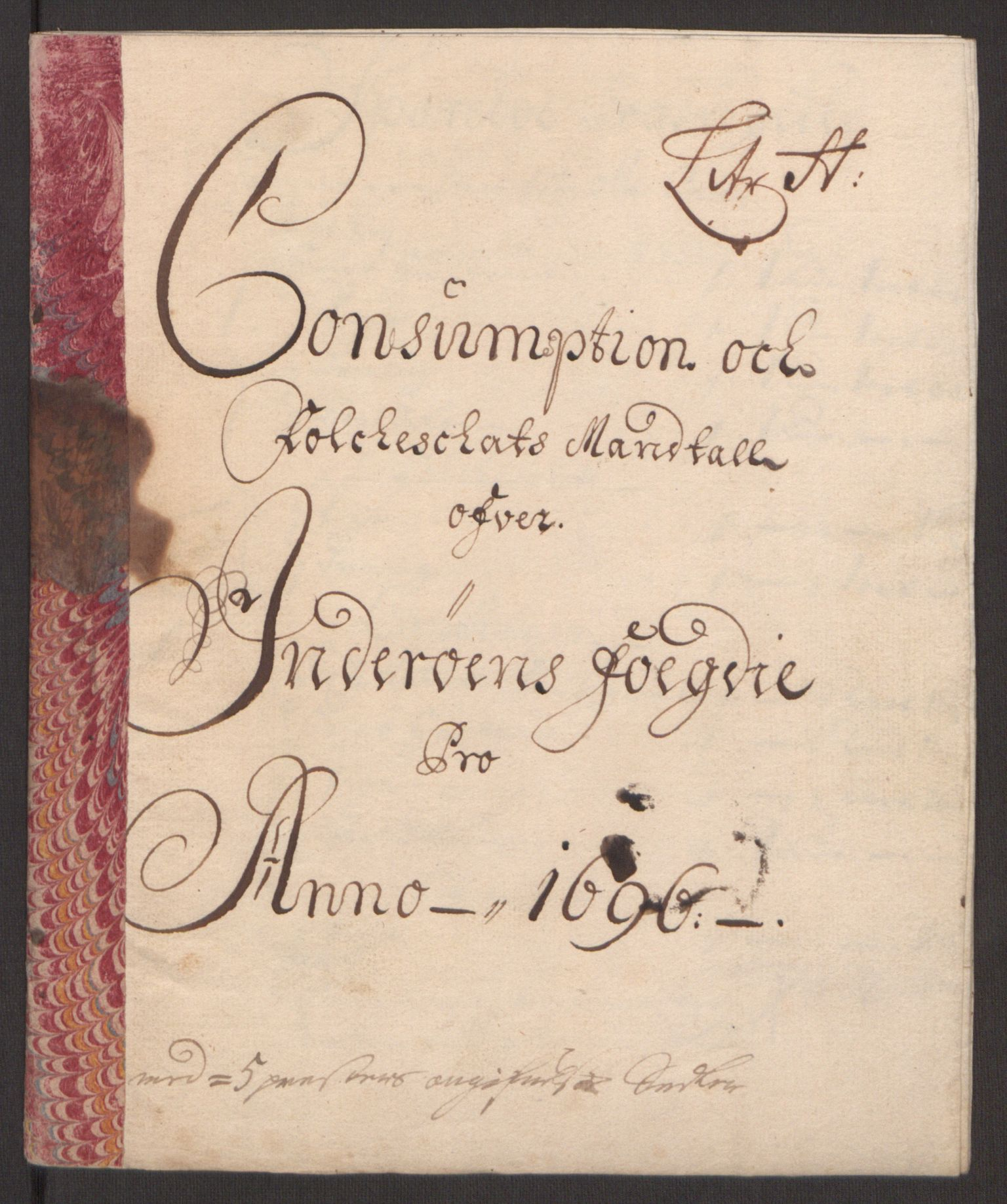 RA, Rentekammeret inntil 1814, Reviderte regnskaper, Fogderegnskap, R63/L4309: Fogderegnskap Inderøy, 1695-1697, s. 281