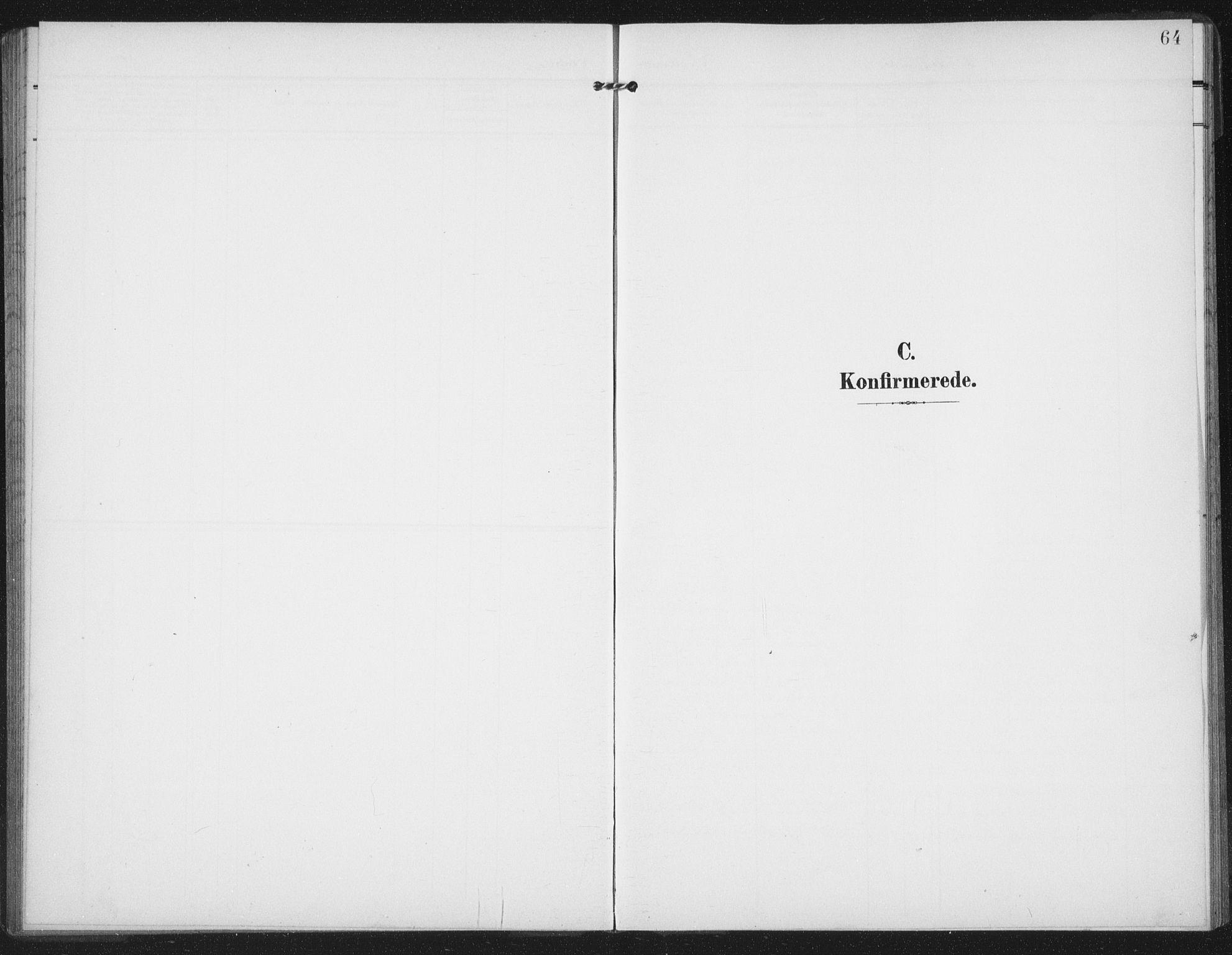 SAT, Ministerialprotokoller, klokkerbøker og fødselsregistre - Nord-Trøndelag, 747/L0460: Klokkerbok nr. 747C02, 1908-1939, s. 64