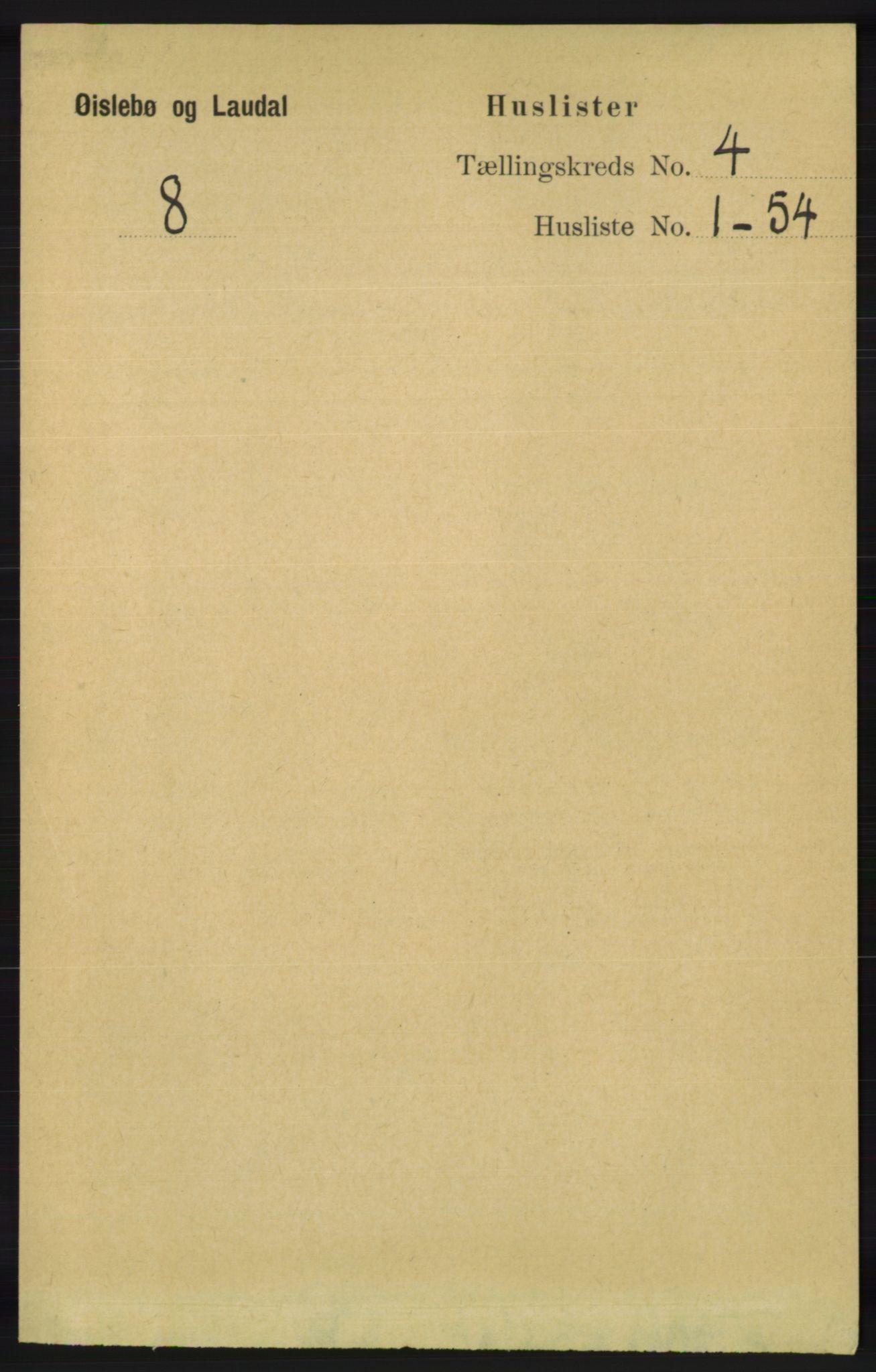RA, Folketelling 1891 for 1021 Øyslebø og Laudal herred, 1891, s. 950