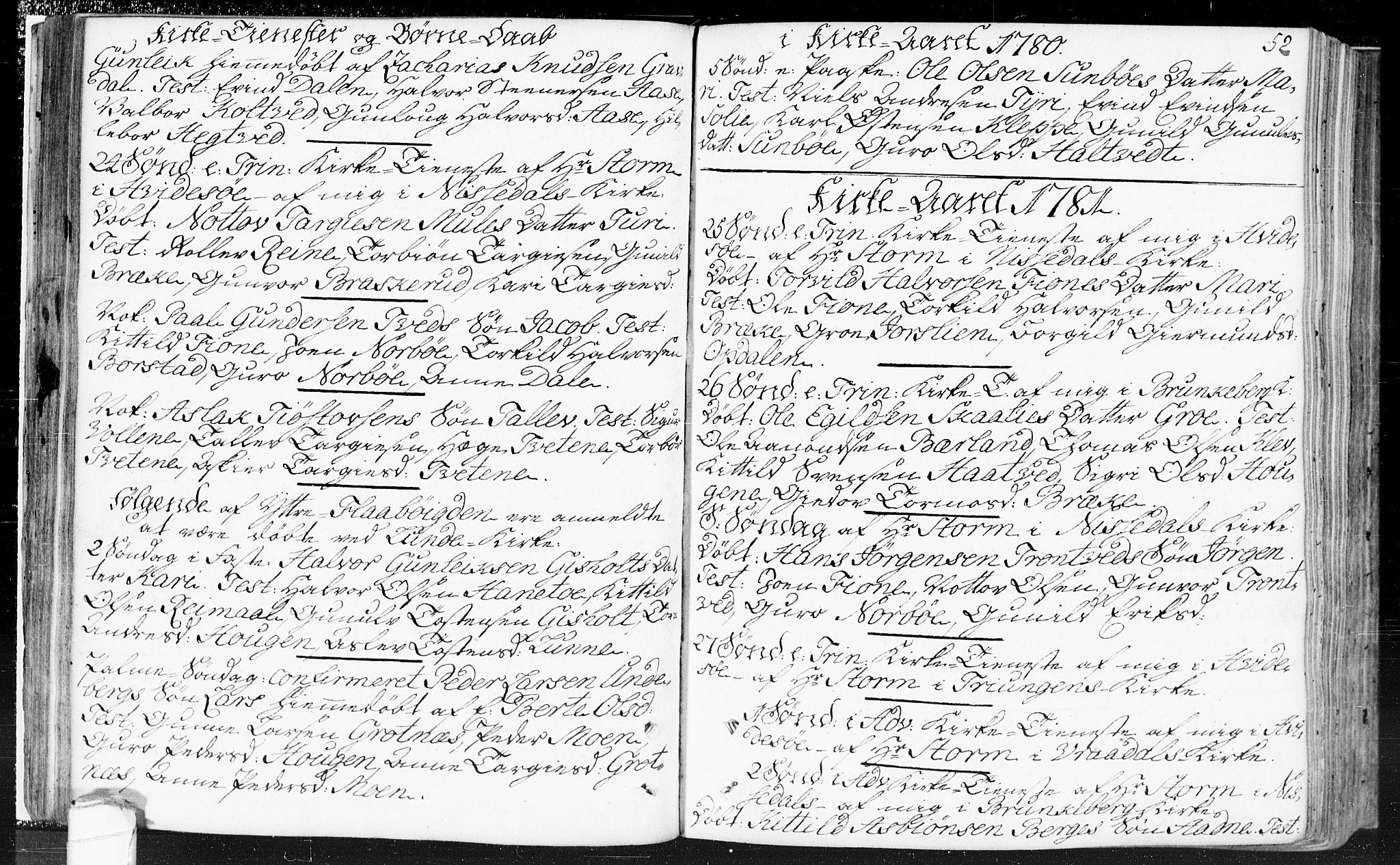 SAKO, Kviteseid kirkebøker, F/Fa/L0002: Ministerialbok nr. I 2, 1773-1786, s. 52