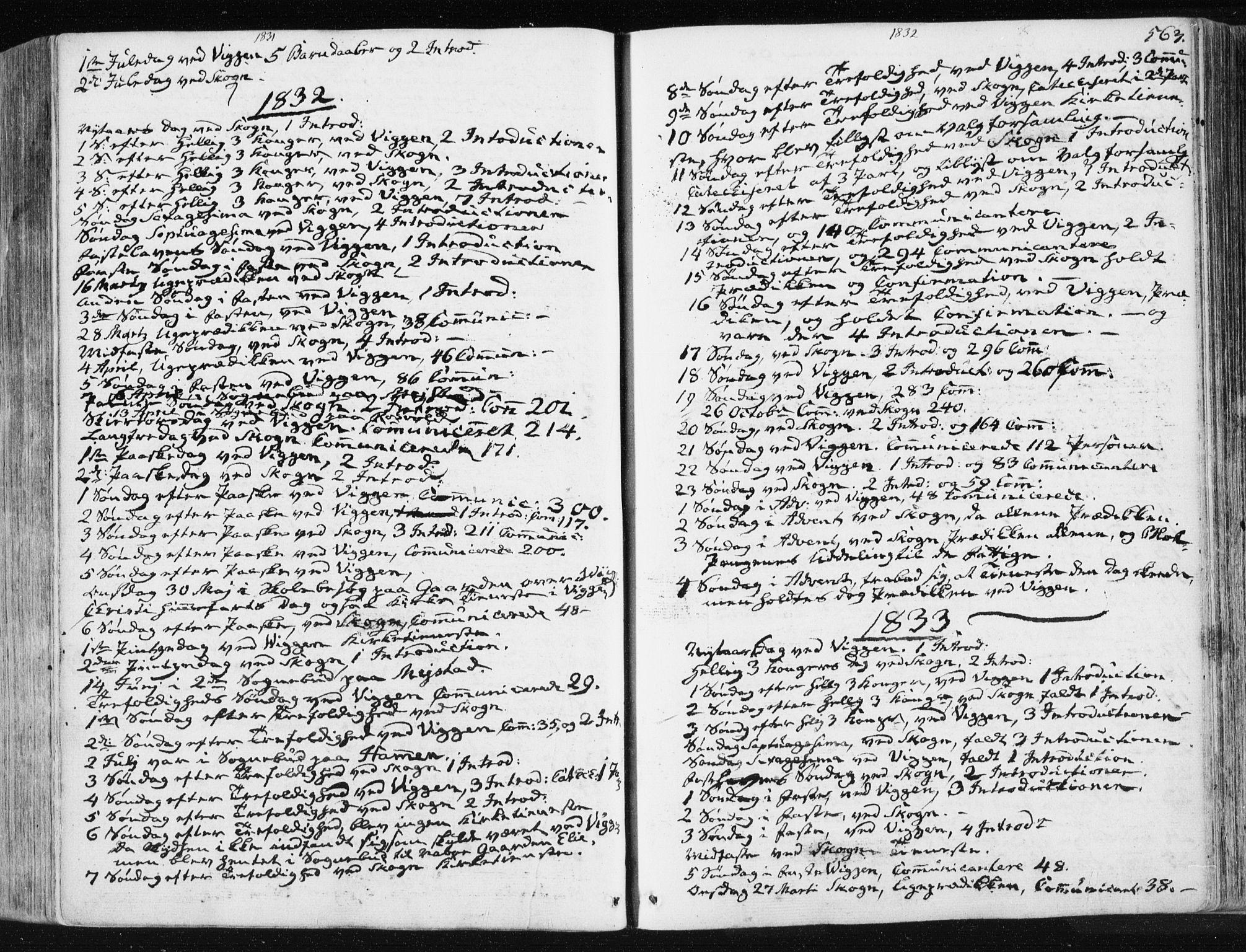 SAT, Ministerialprotokoller, klokkerbøker og fødselsregistre - Sør-Trøndelag, 665/L0771: Ministerialbok nr. 665A06, 1830-1856, s. 563