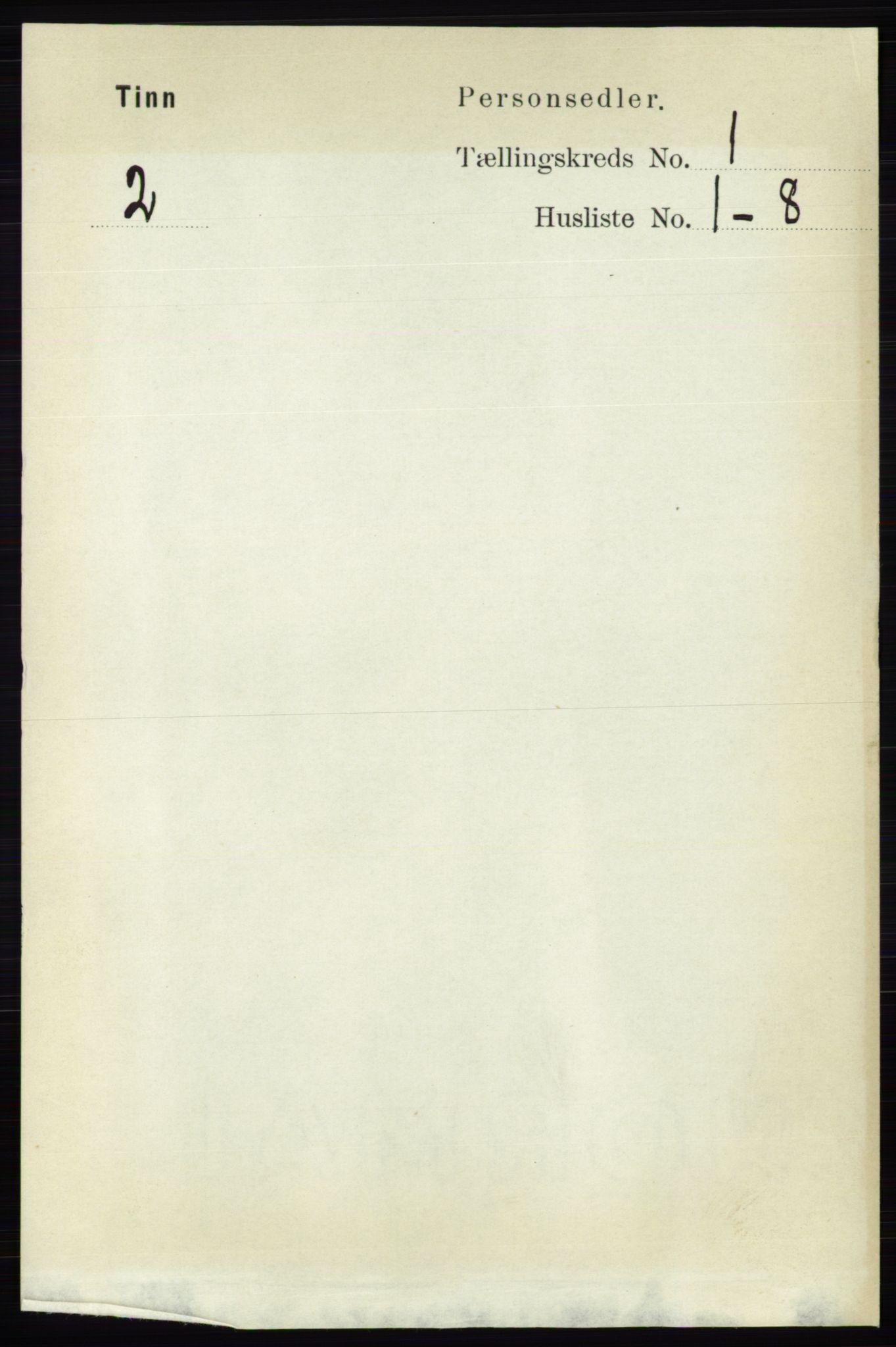 RA, Folketelling 1891 for 0826 Tinn herred, 1891, s. 46