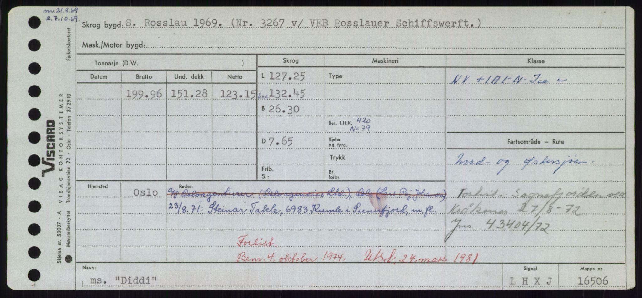 RA, Sjøfartsdirektoratet med forløpere, Skipsmålingen, H/Hd/L0008: Fartøy, C-D, s. 475