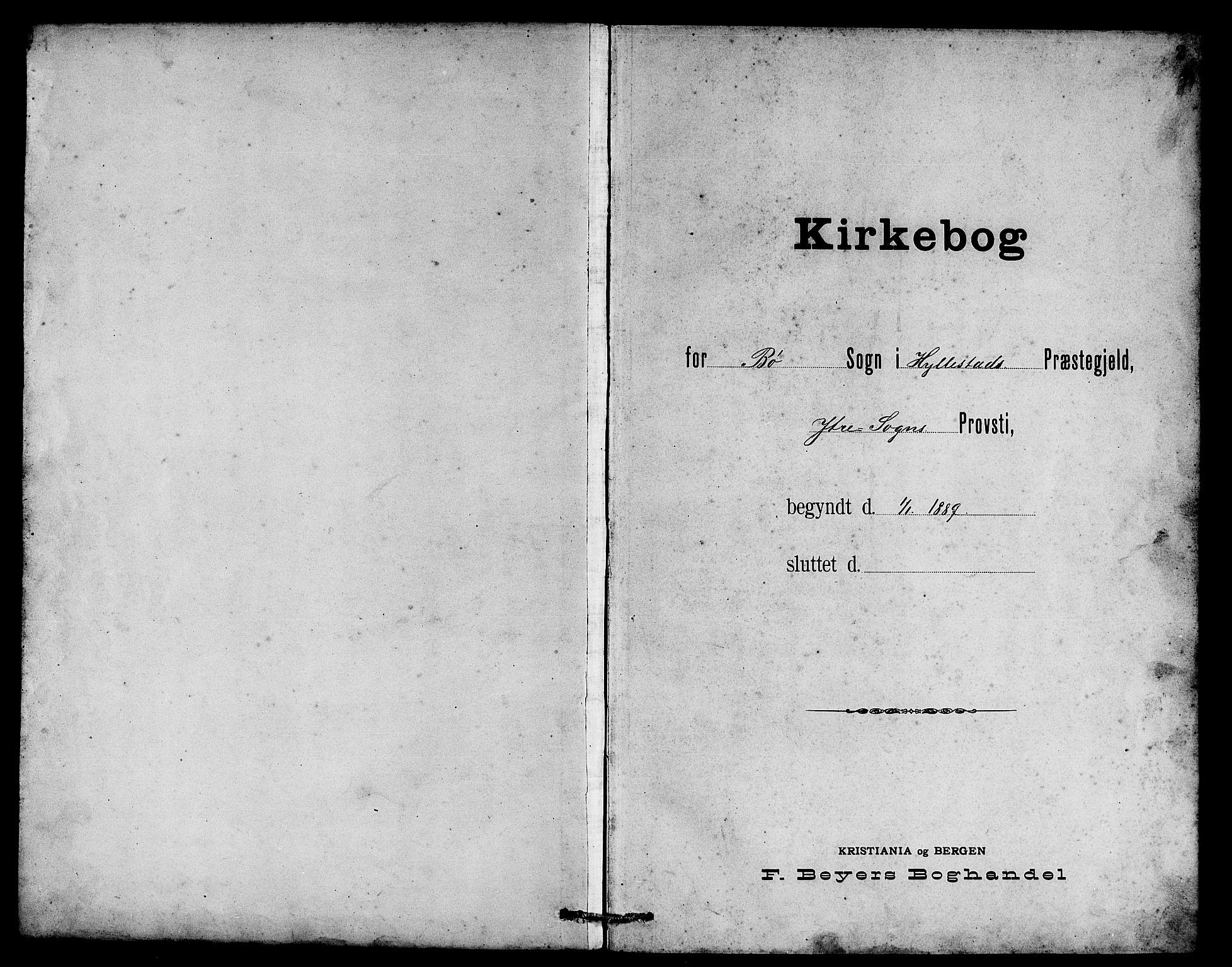 SAB, Hyllestad Sokneprestembete, Klokkerbok nr. B 2, 1889-1915