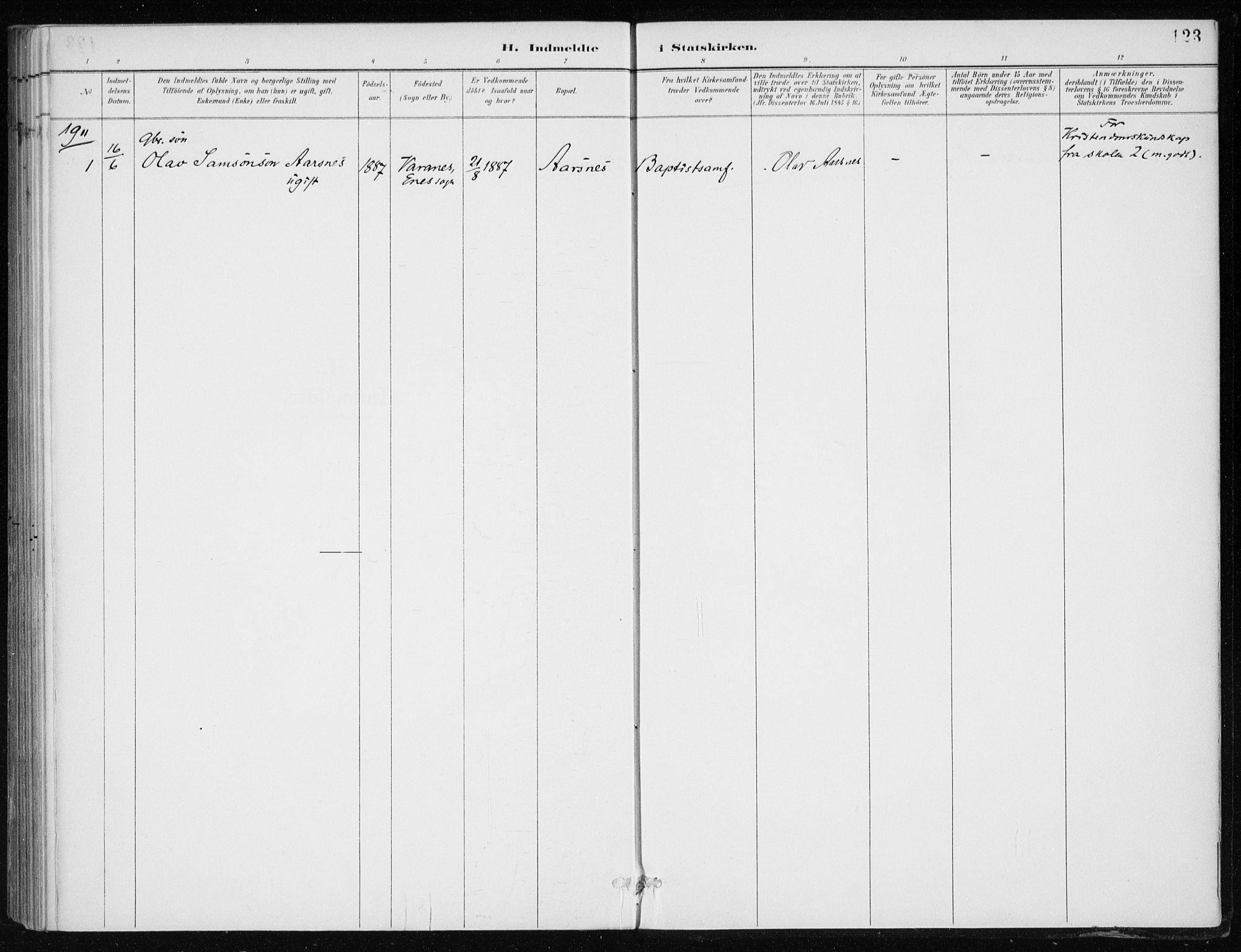 SAB, Kvinnherad Sokneprestembete, H/Haa: Ministerialbok nr. F 1, 1887-1912, s. 123