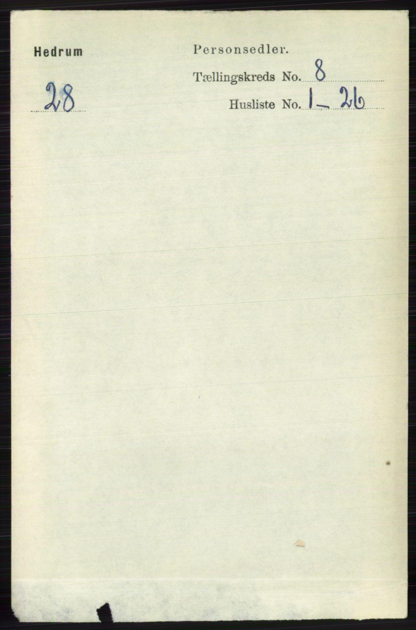 RA, Folketelling 1891 for 0727 Hedrum herred, 1891, s. 3467