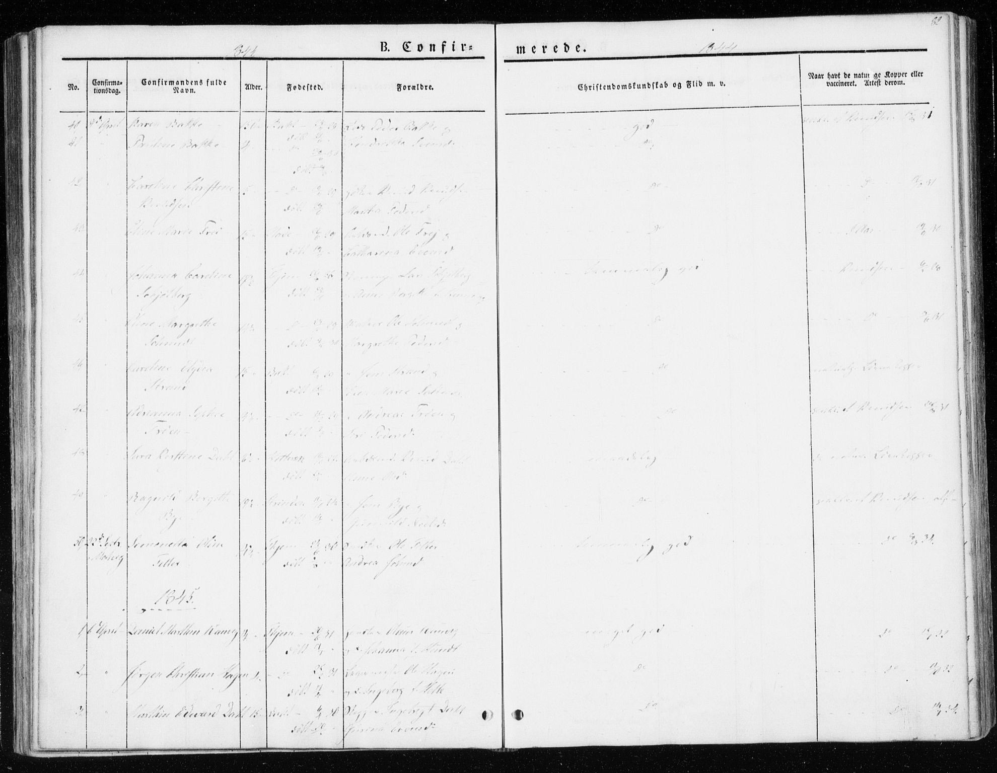 SAT, Ministerialprotokoller, klokkerbøker og fødselsregistre - Sør-Trøndelag, 604/L0183: Ministerialbok nr. 604A04, 1841-1850, s. 82