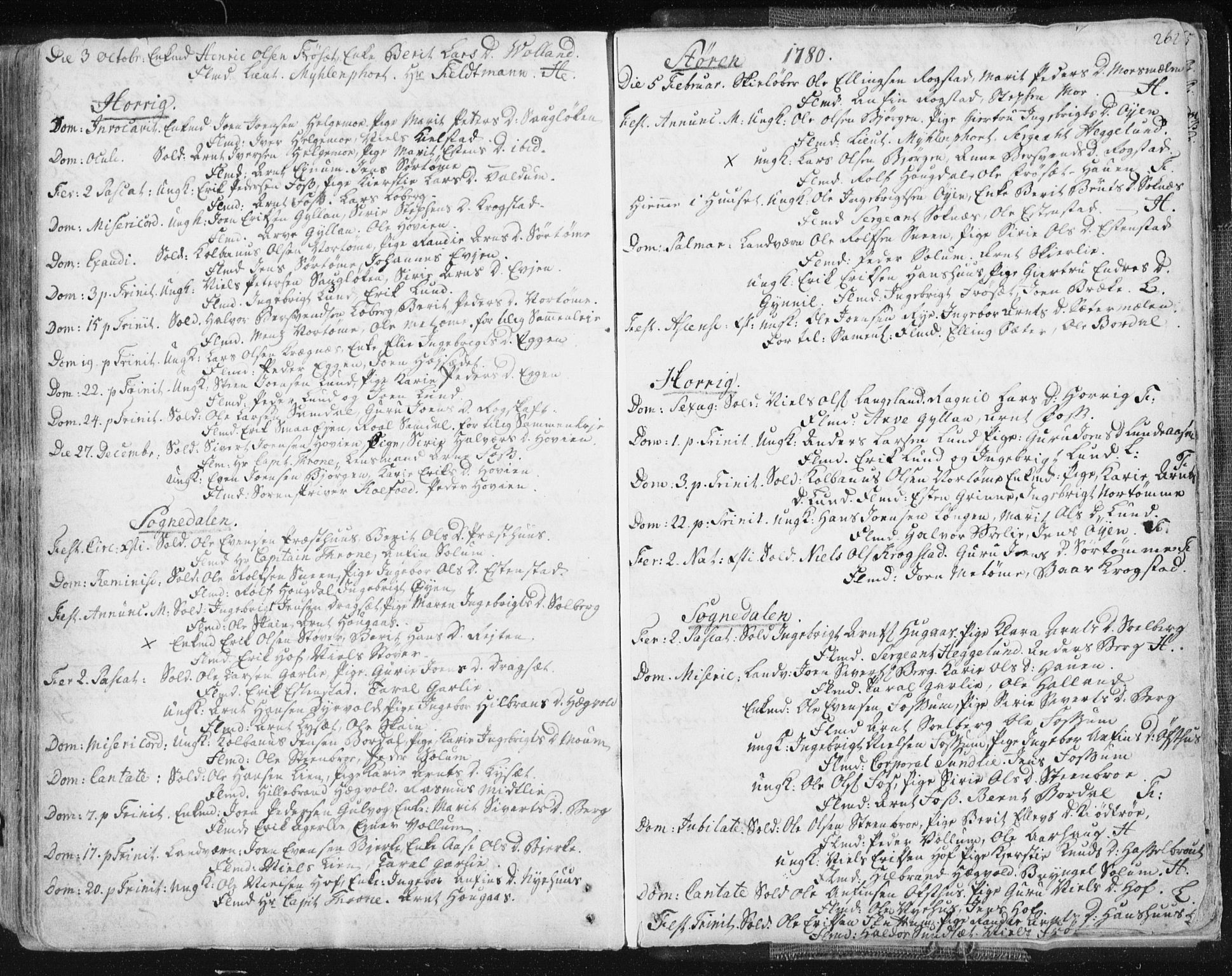 SAT, Ministerialprotokoller, klokkerbøker og fødselsregistre - Sør-Trøndelag, 687/L0991: Ministerialbok nr. 687A02, 1747-1790, s. 262